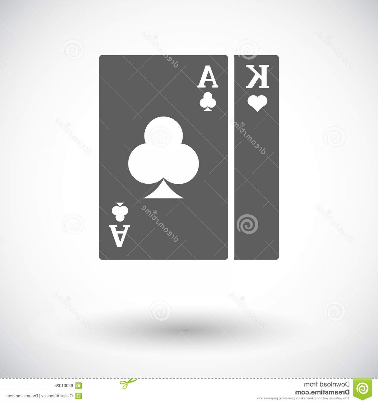 Single Playing Card Vector: Stock Illustration Play Card Single Flat Icon White Background Vector Illustration Image