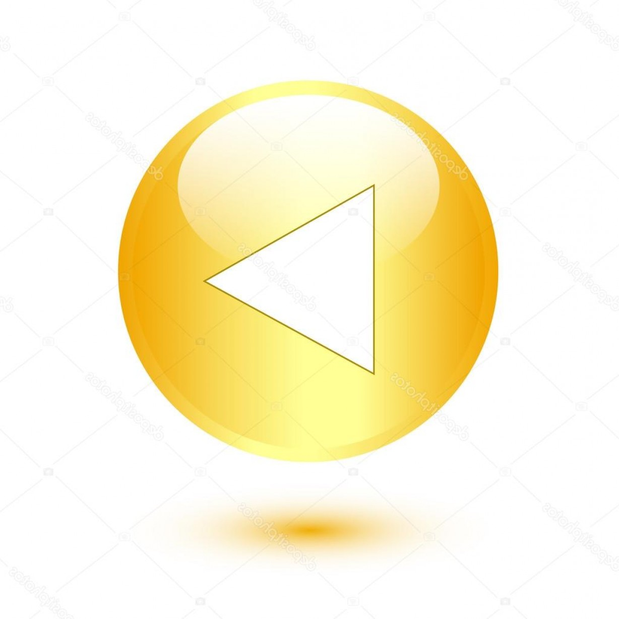Gold Button Vector: Stock Illustration Play Icon On Gold