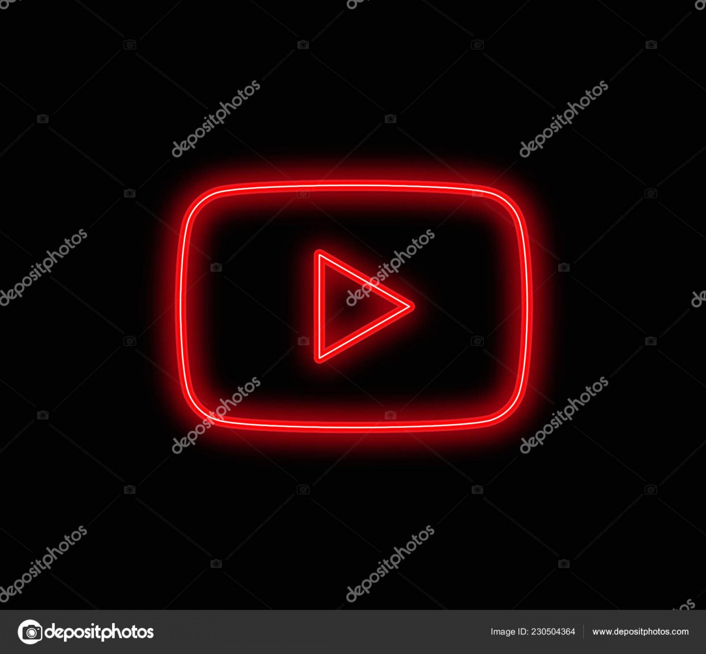 YouTube RedVector Real Life: Stock Illustration Play Icon Vector Sign