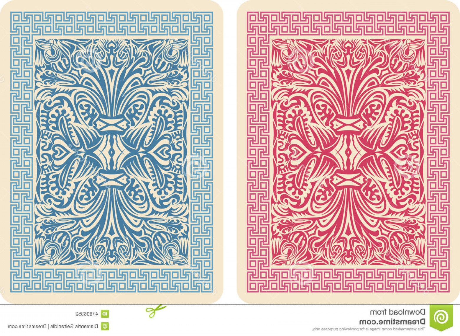 Playing Card Design Vector Illustration: Stock Illustration Playing Card Back Designs Vector Illustrator Eps Image