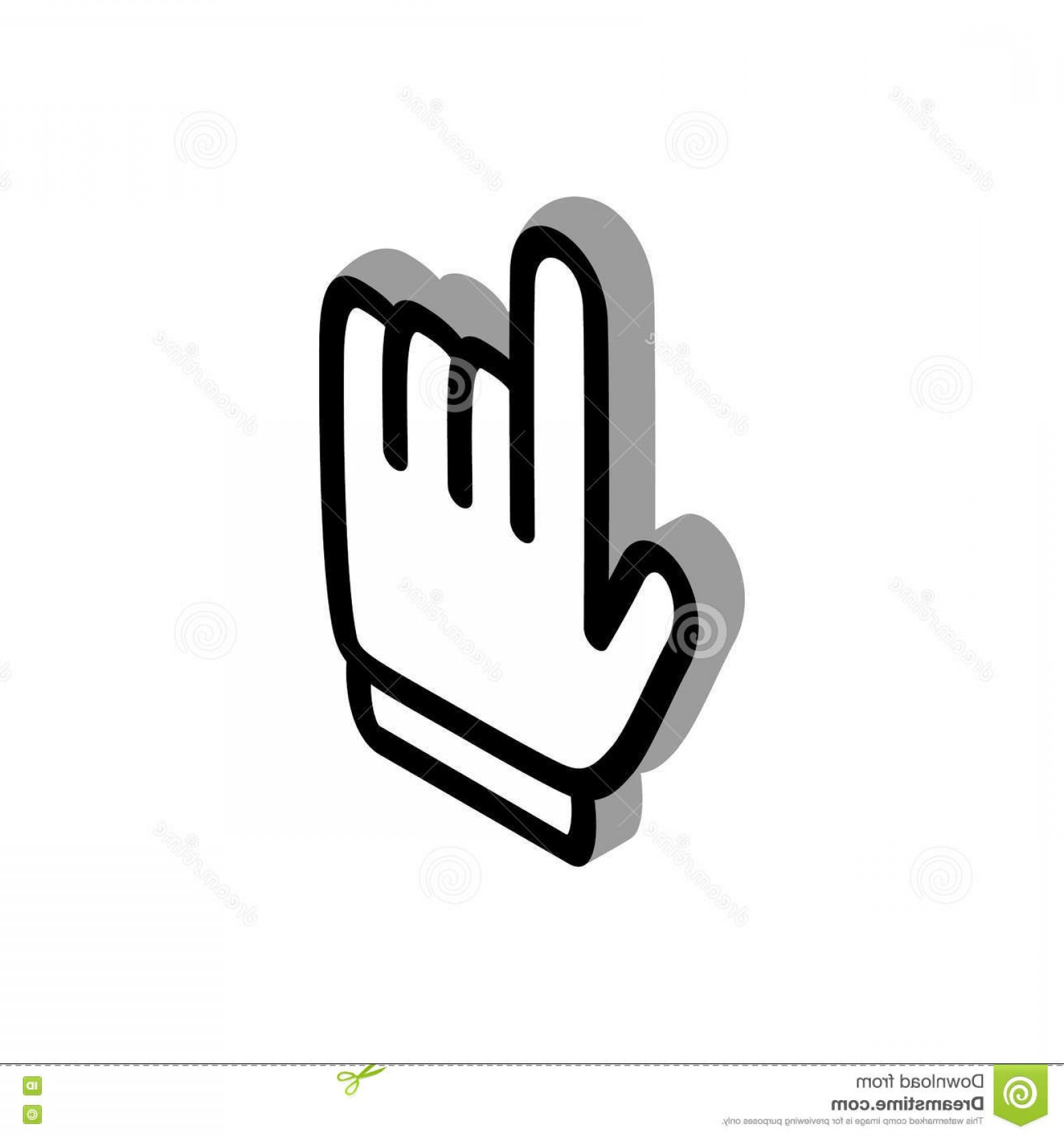 Computer Pointer Vector: Stock Illustration Pointer Computer Mouse Icon Isometric D Style White Background Image