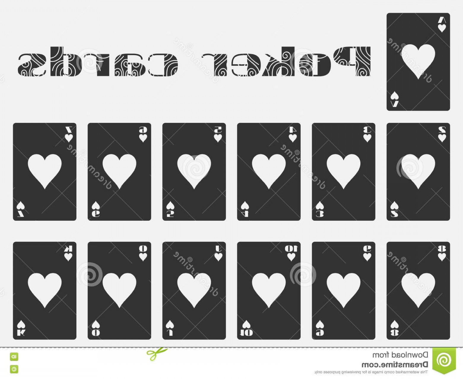 10 Playing Card Vector: Stock Illustration Poker Cards Deck Cards Cards Hearts Suit Isolated Playing Card Vector Illustration Image