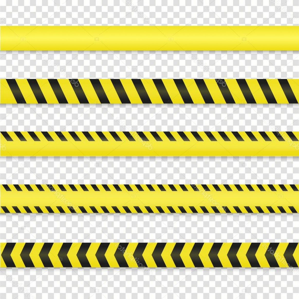 Caution Stripes Vector: Stock Illustration Police And Danger Tapes