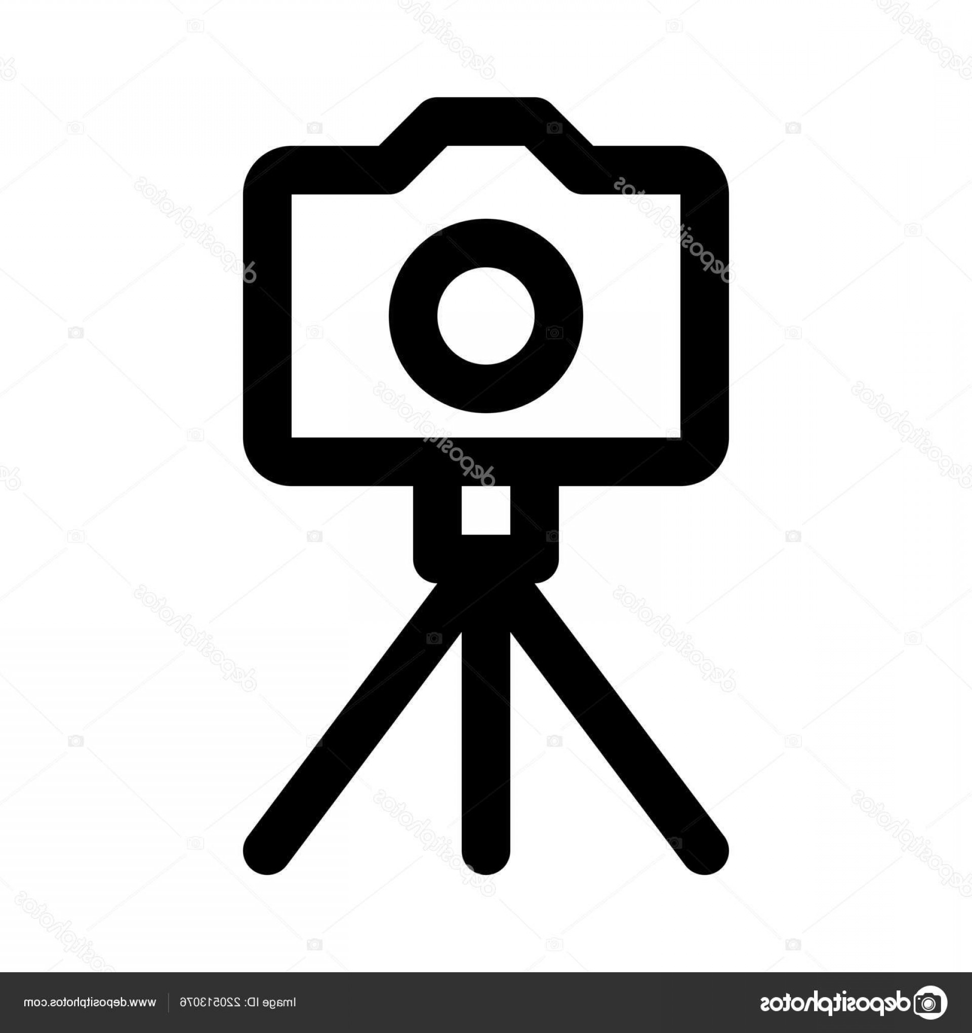 Vector Camera Stand: Stock Illustration Portable Camera Stand Vector Icon