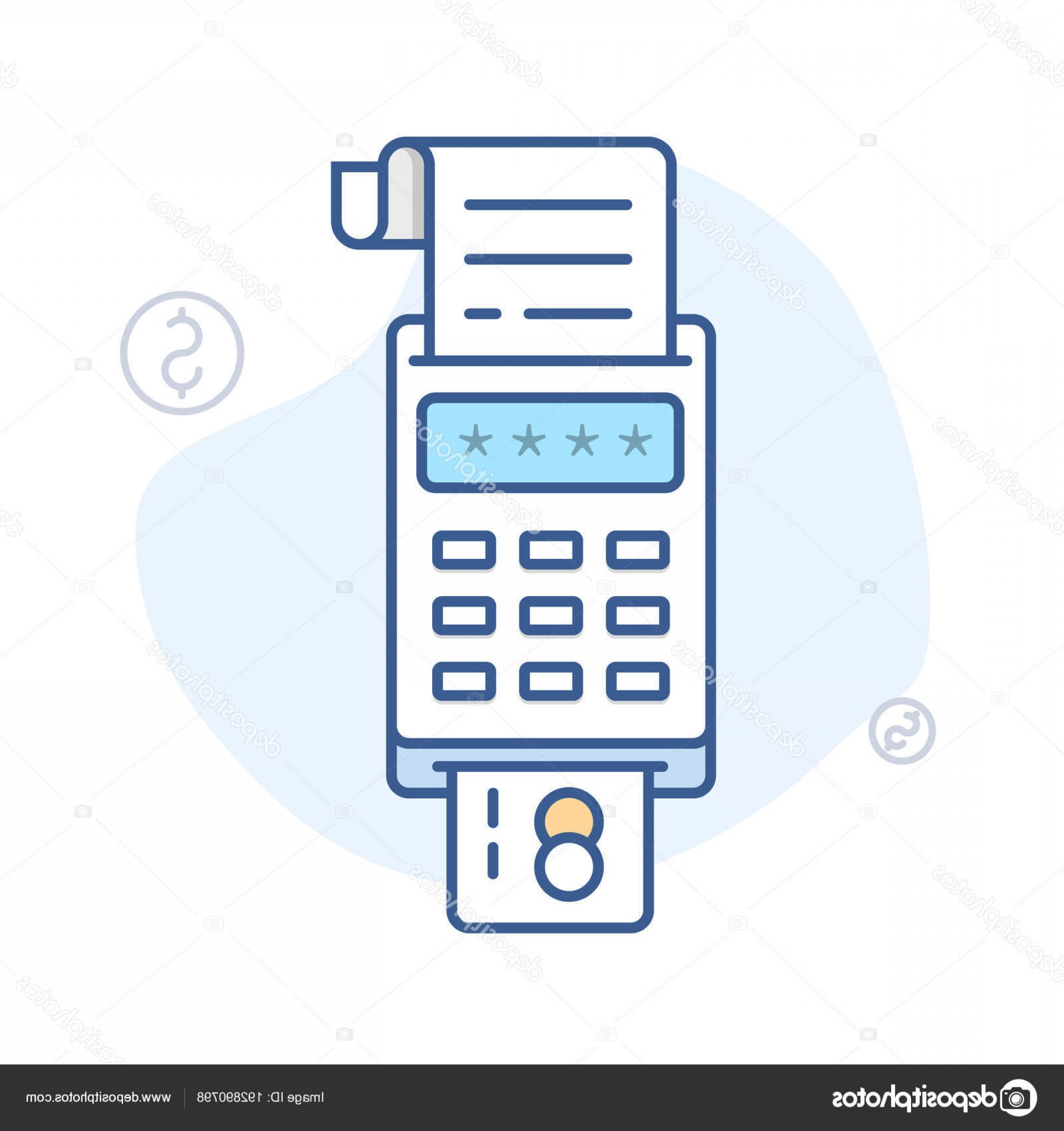 Point Of Sale Icon Vector: Stock Illustration Pos Payment Terminal Vector Icon