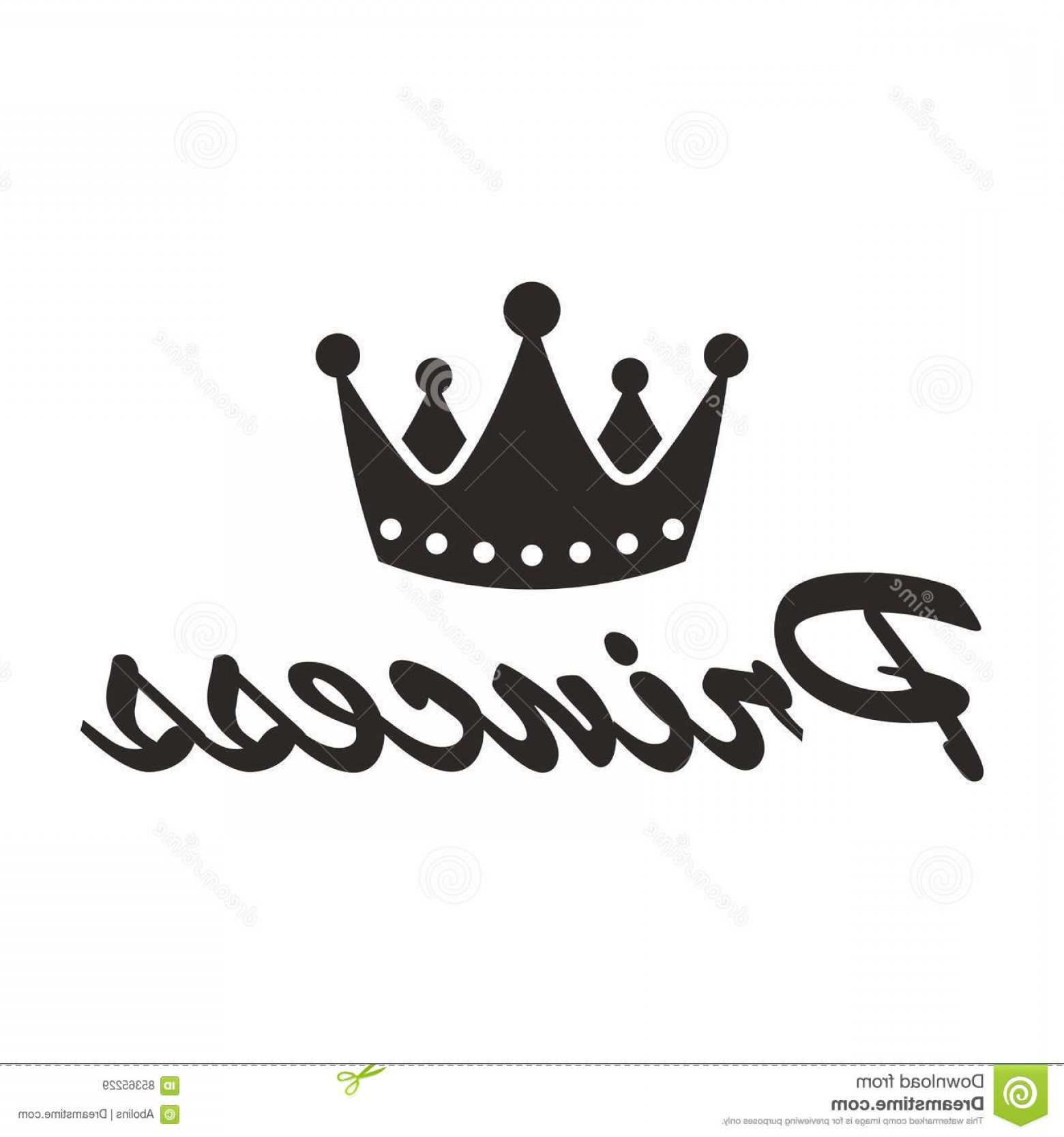 Princess Crown Vector Graphic: Stock Illustration Princess Crown Vector Icon Isolated White Background Image