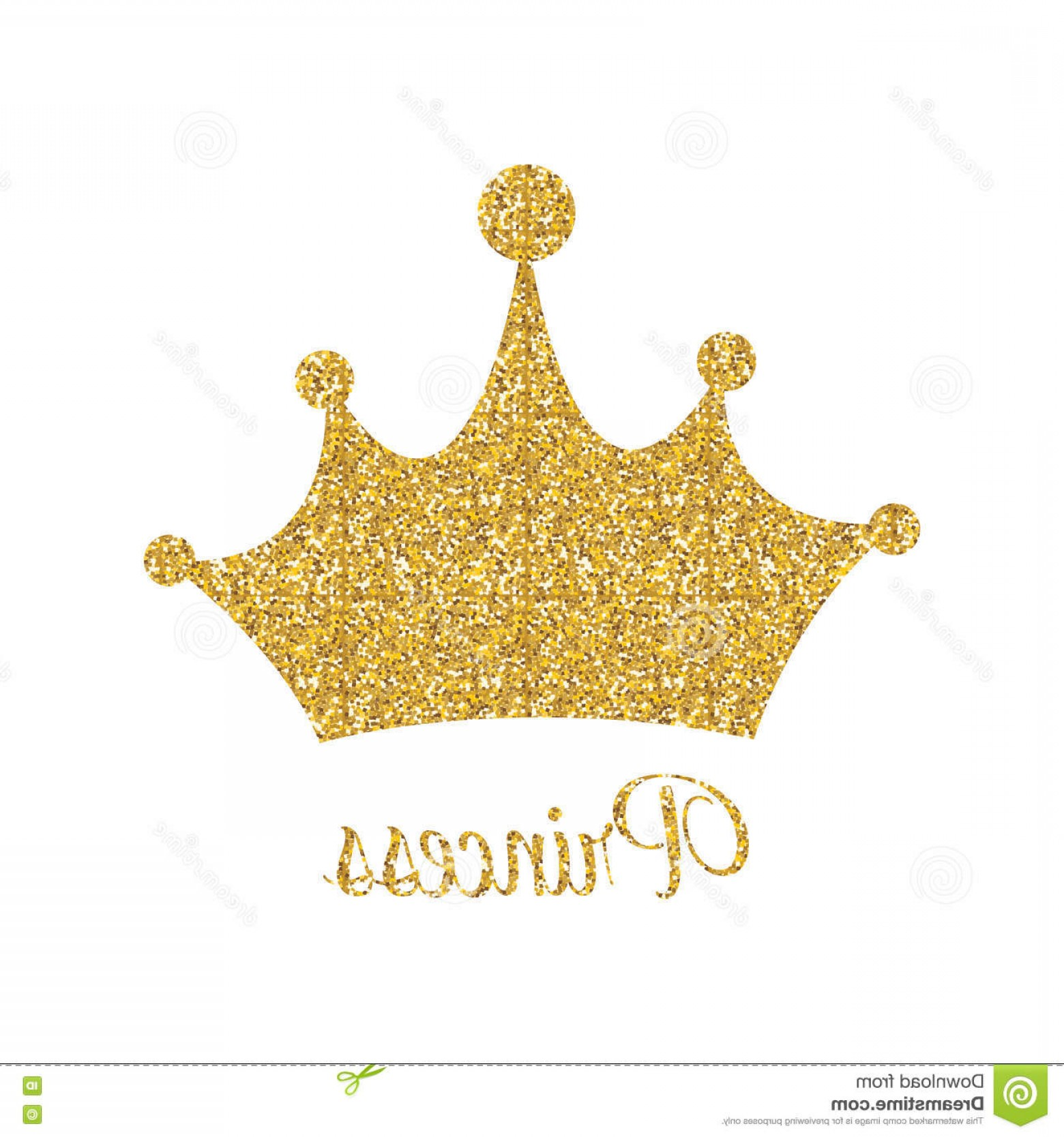 Transparent Queen Crown Vector: Stock Illustration Princess Golden Glossy Background Crown Vector Illustration Eps Image