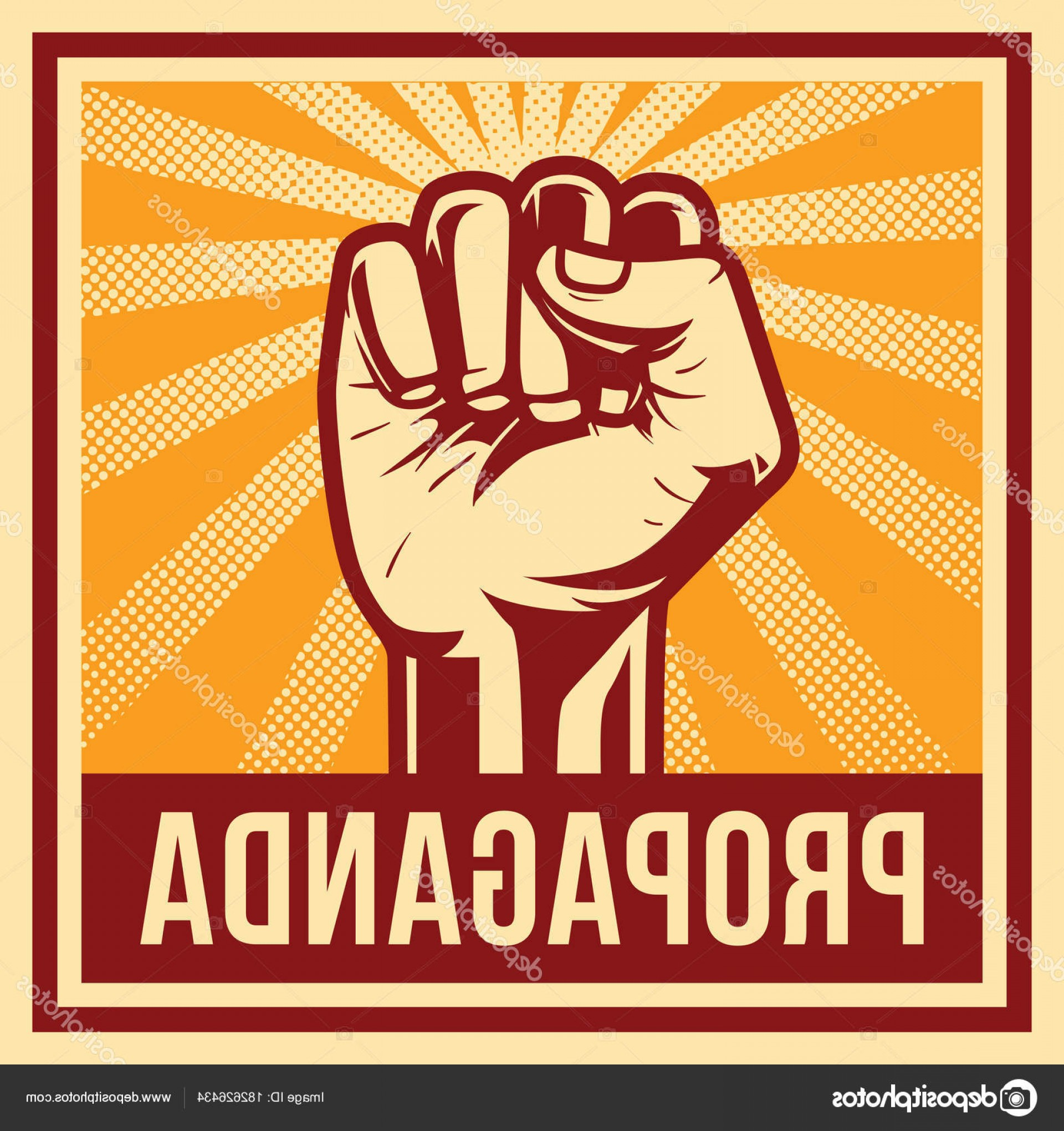 Propaganda Art Poster Vector: Stock Illustration Propaganda Poster Fist Hand