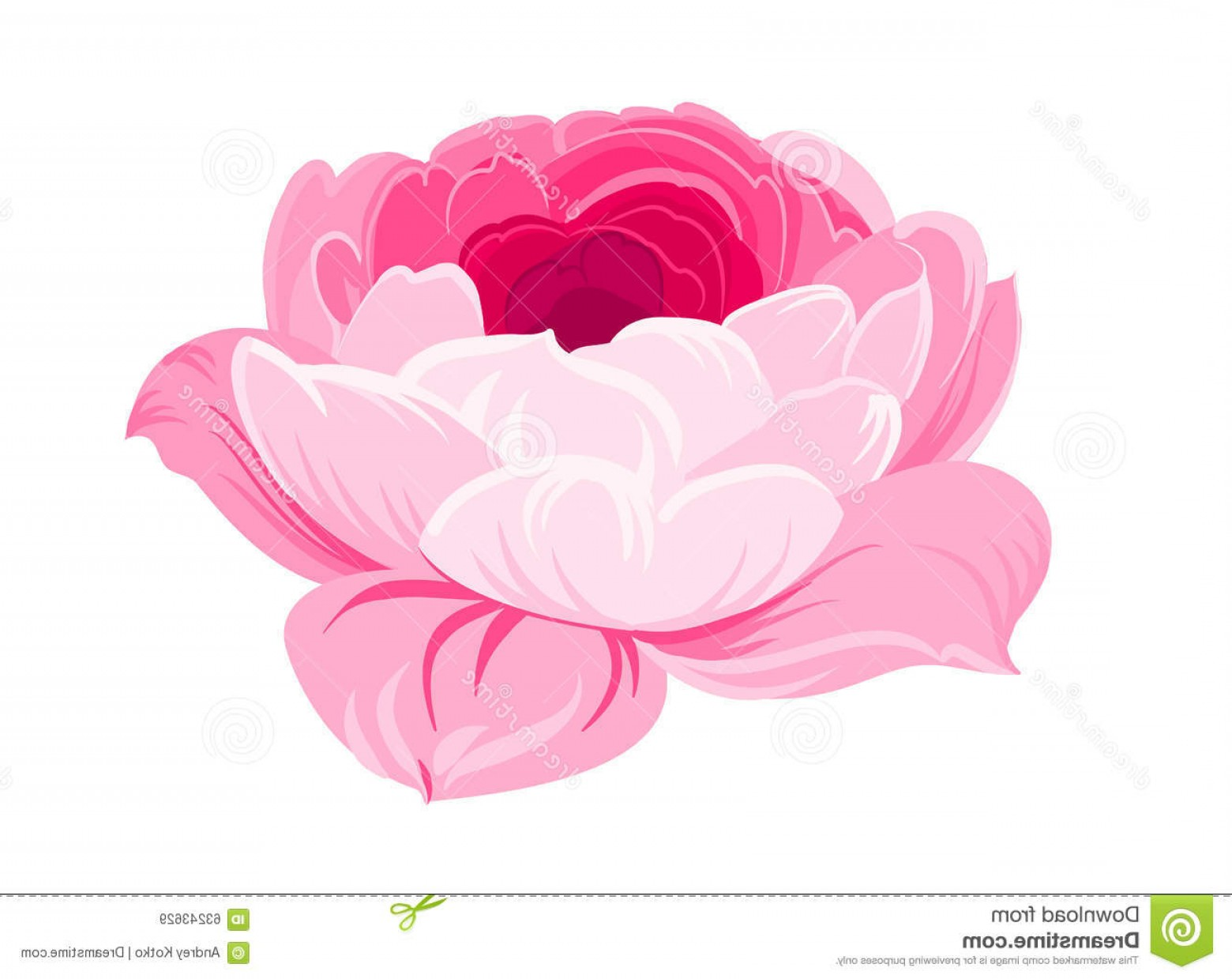 Vector Mop Flower: Stock Illustration Purple Rose White Background Mop Headrose Flower Against Beautiful Colored Flowers Vector Illustration Image