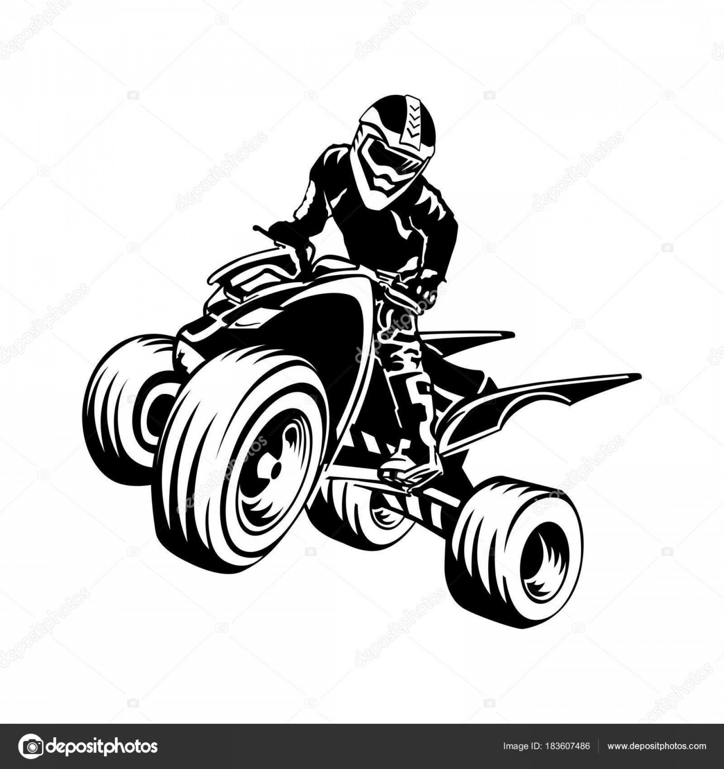 ATV Vector Clip Art: Stock Illustration Quad Bike Silhouette Atv Logo