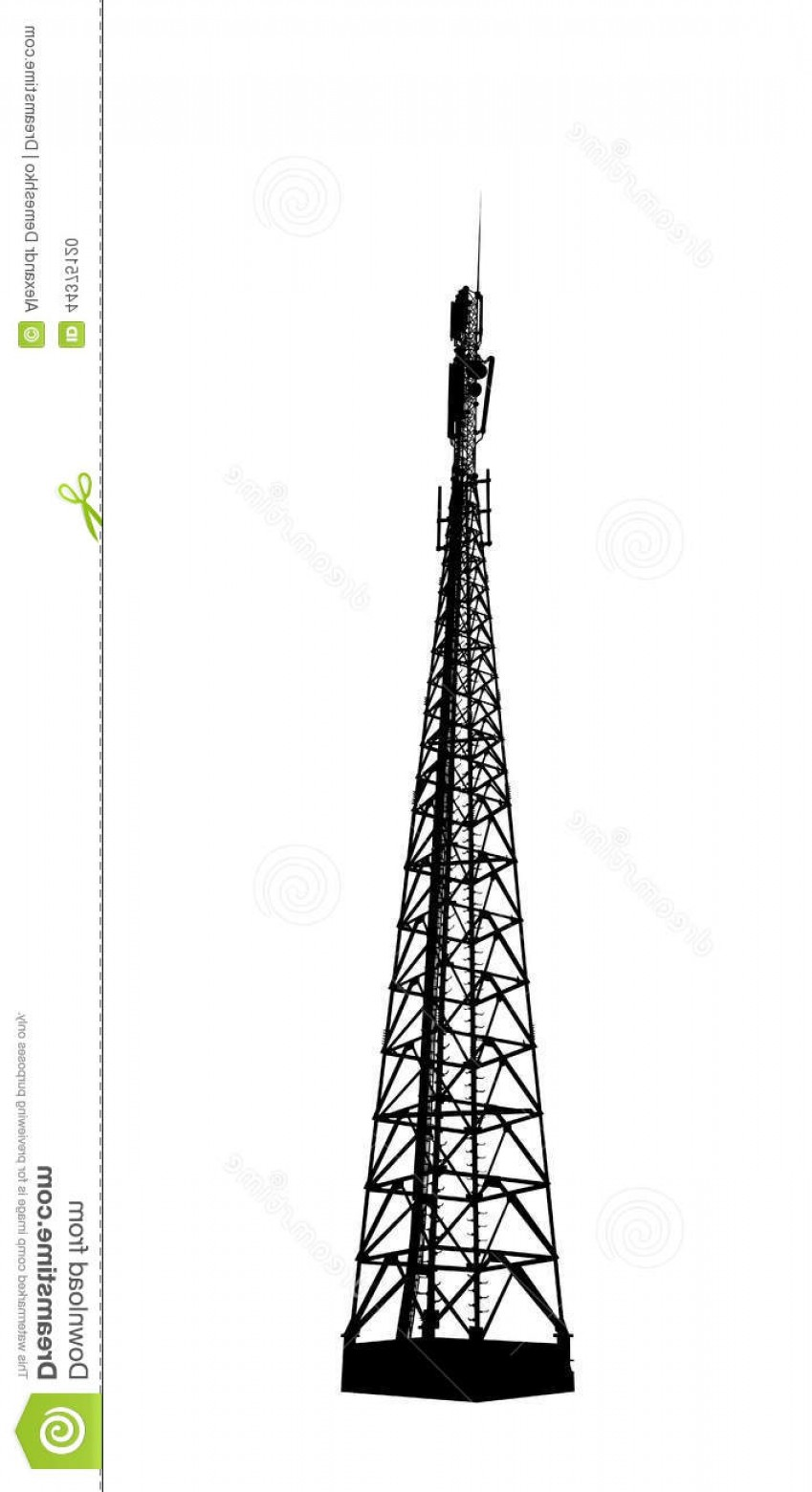 Vector Phone Tower: Stock Illustration Radio Mobile Phone Base Station Telecommunications Tower Vector Eps Image