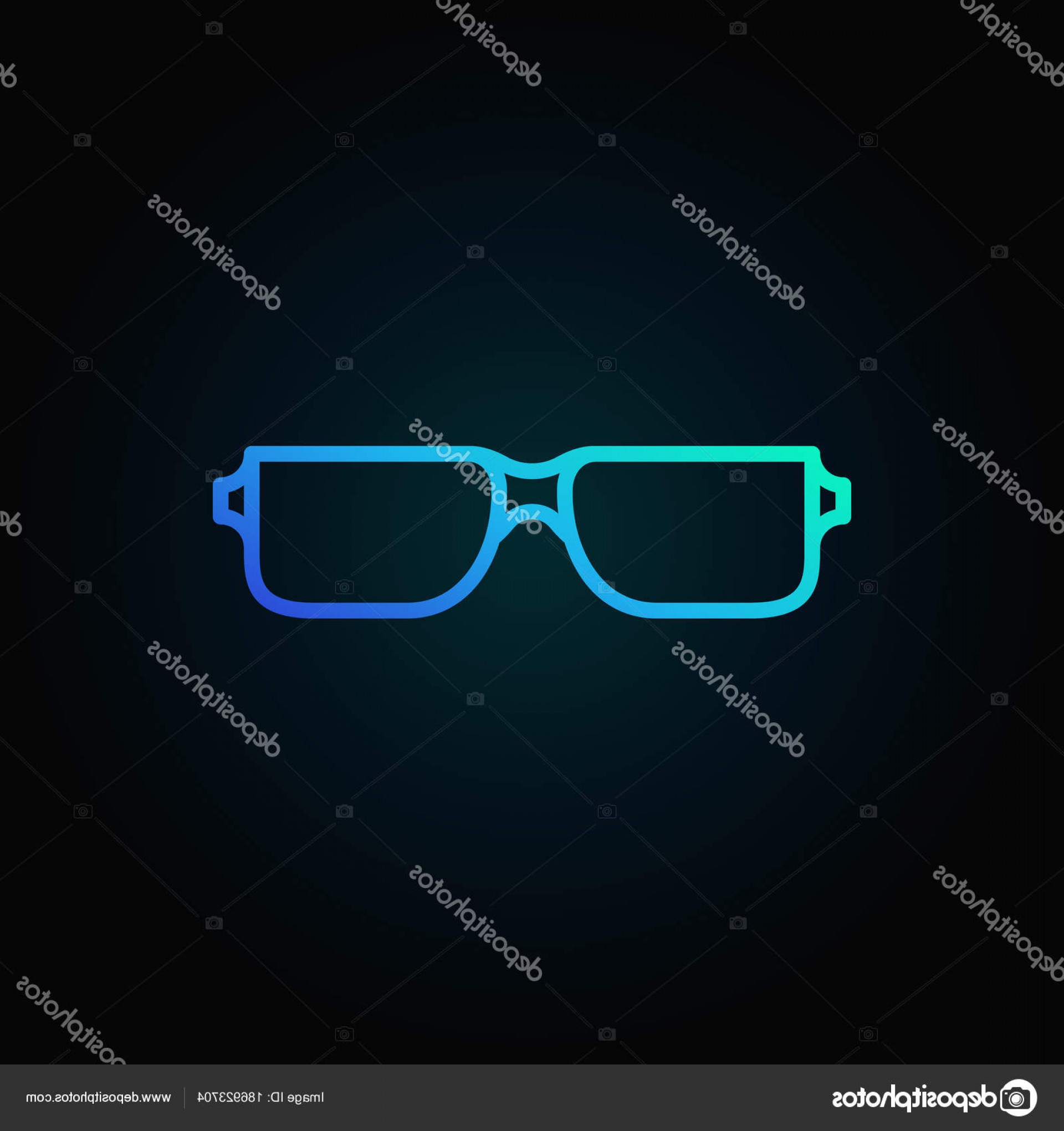 Reading Glasses For Men Vector: Stock Illustration Reading Glasses Blue Icon Vector