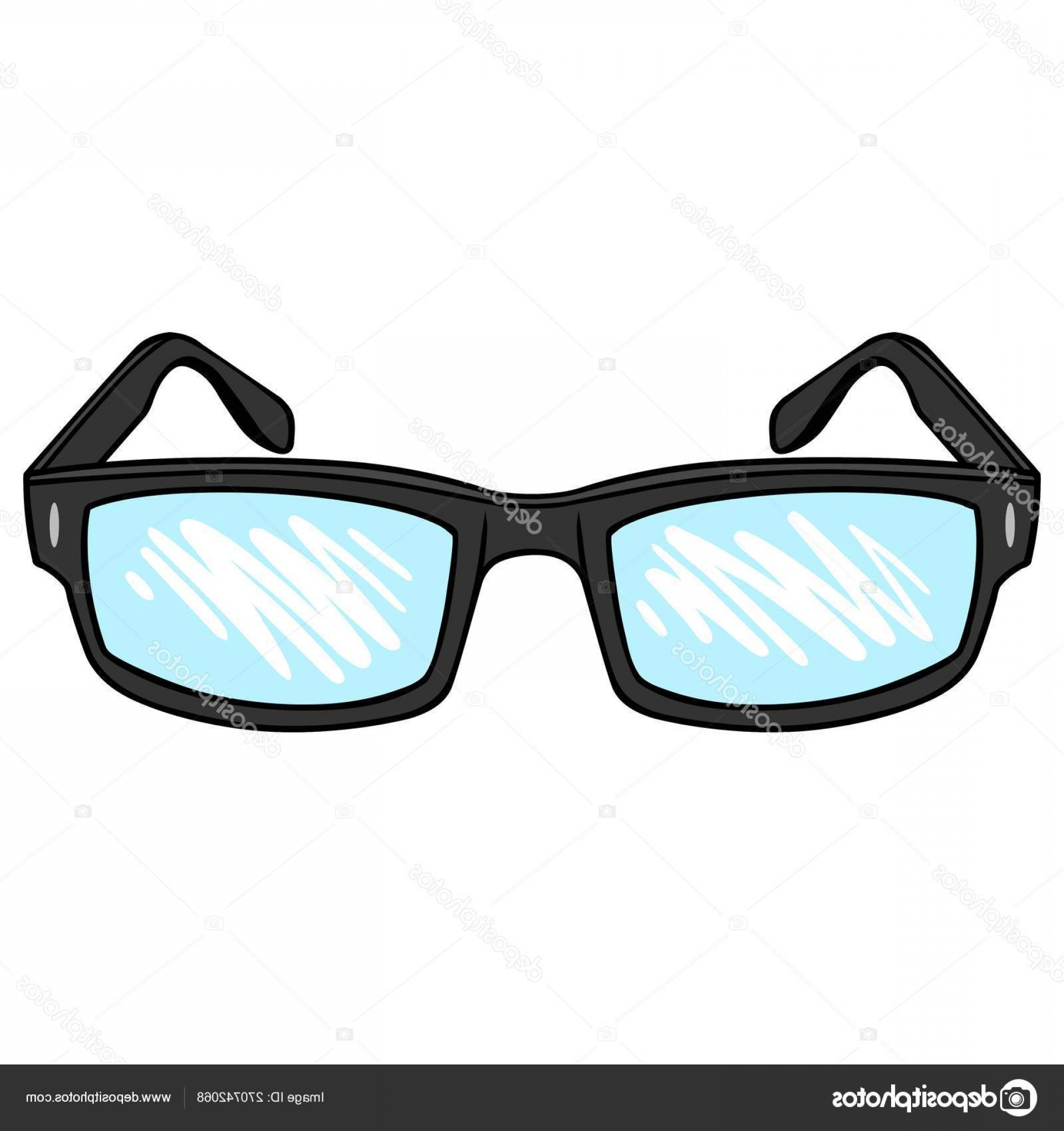 Reading Glasses For Men Vector: Stock Illustration Reading Glasses Cartoon Illustration Pair