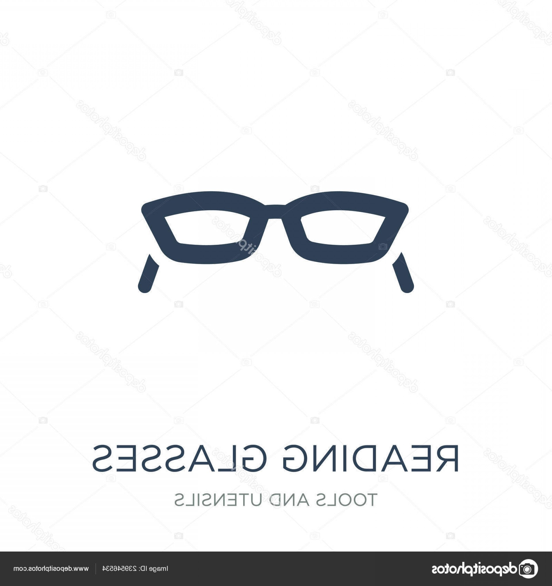Reading Glasses For Men Vector: Stock Illustration Reading Glasses Icon Vector White