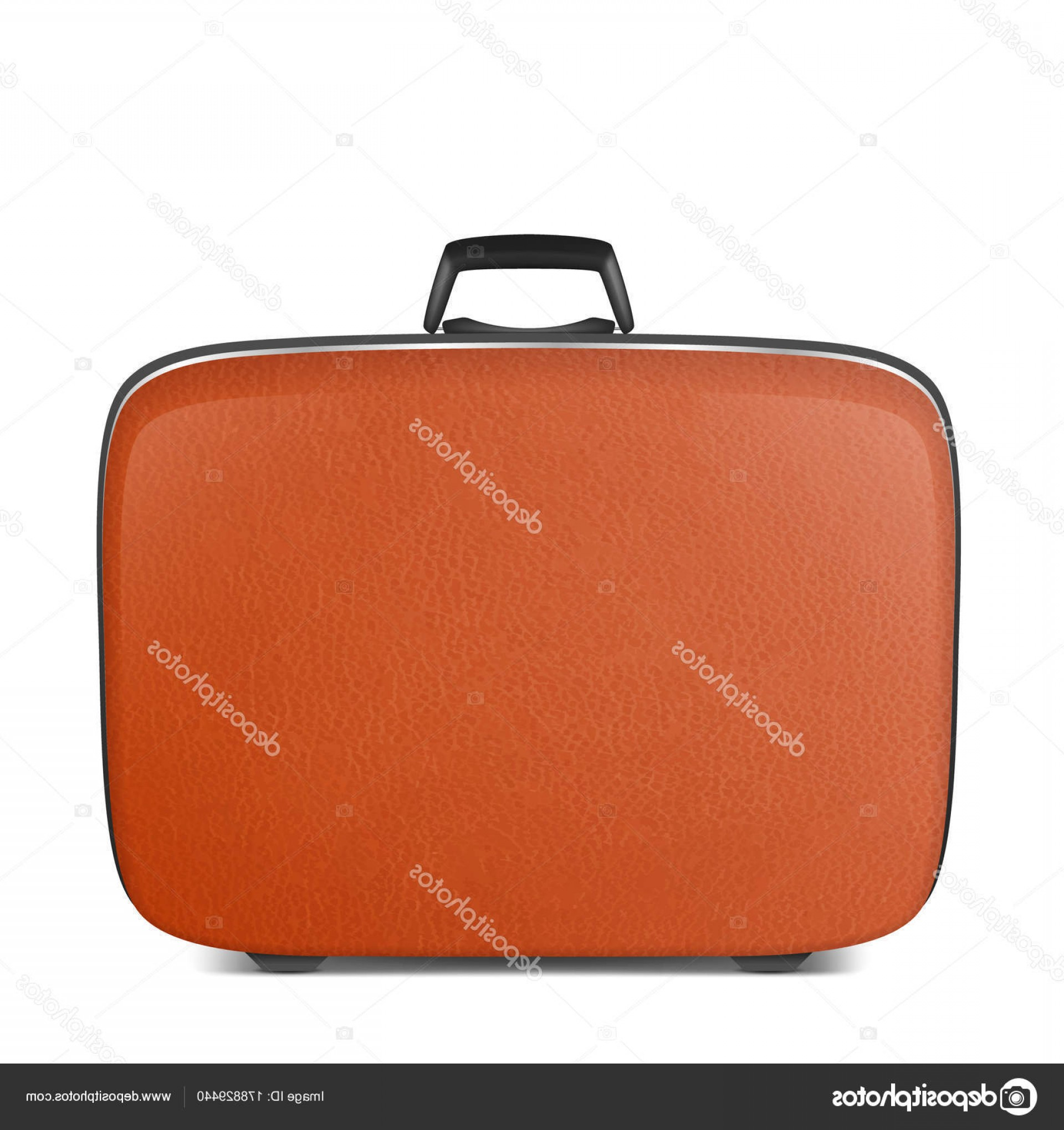 Vintage Luggage Vector: Stock Illustration Realistic Vector Retro Vintage Leather