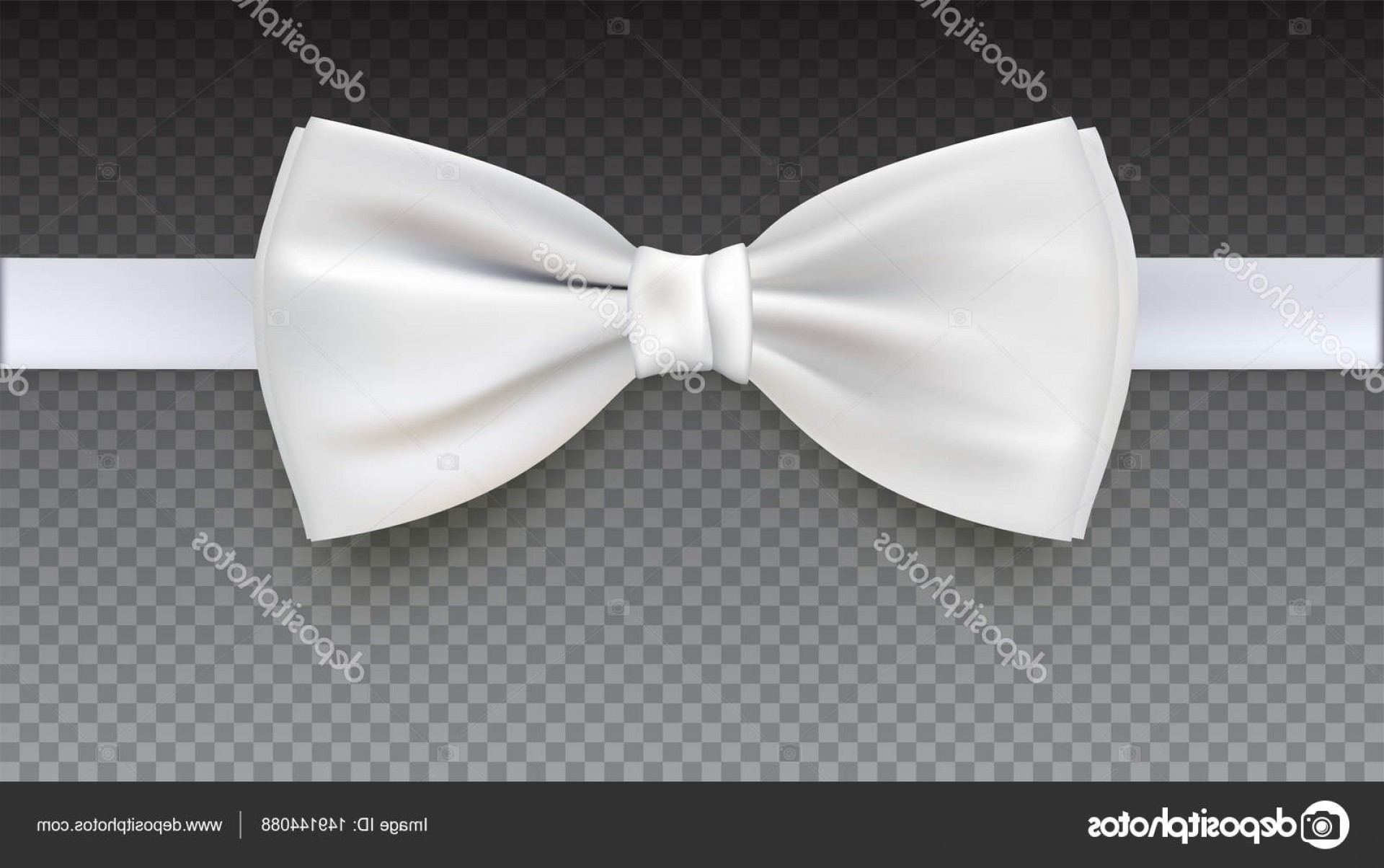 Bow Tie Vector Graphic Transparent: Stock Illustration Realistic White Bow Tie Vector