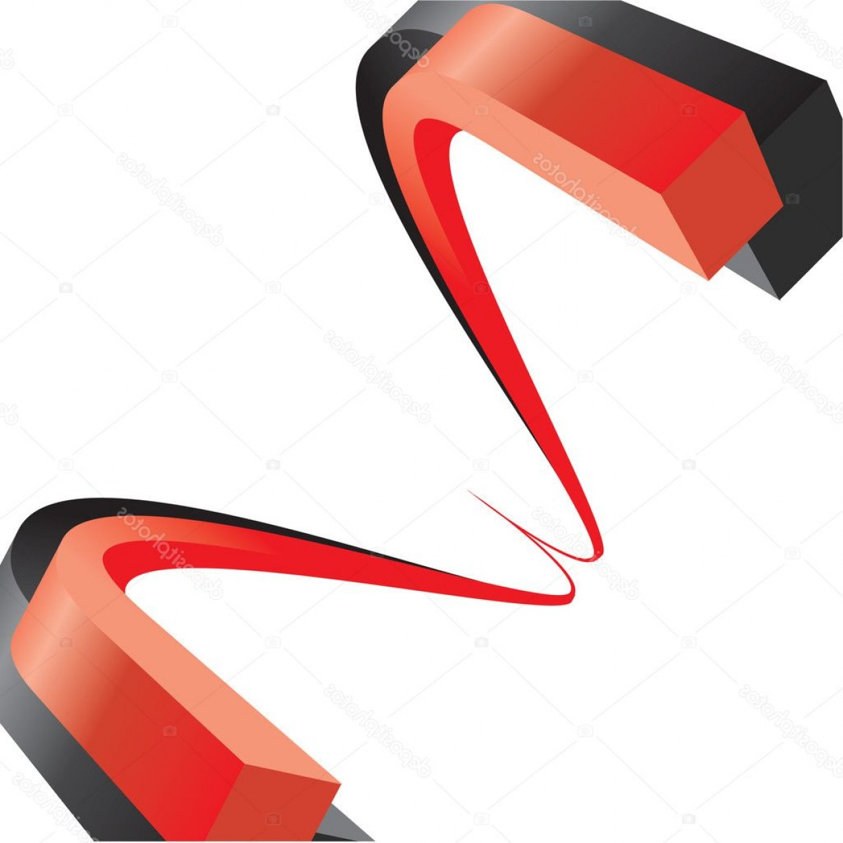 Black Abstract Lines Vector: Stock Illustration Red And Black Abstract Lines