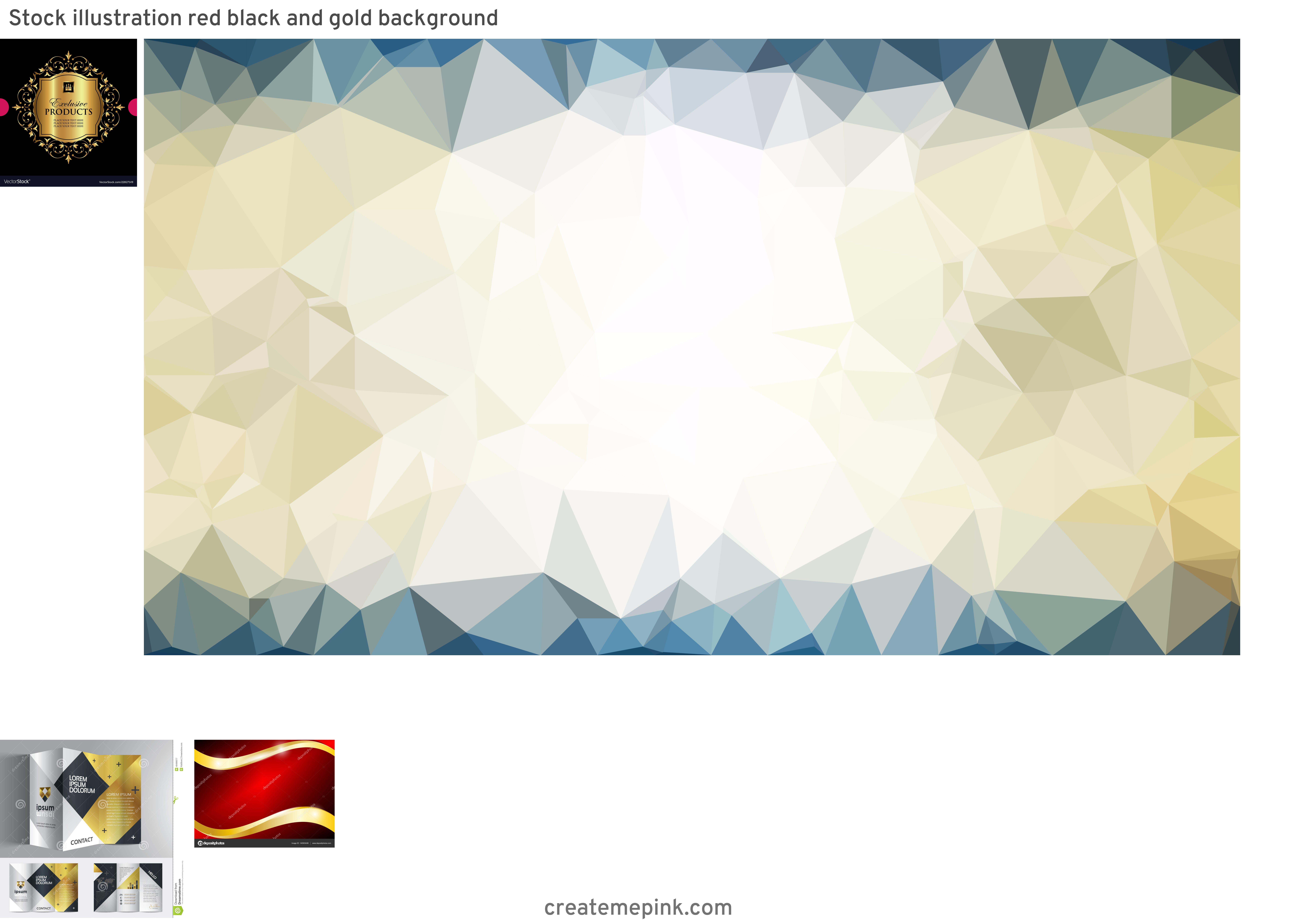 Gold Graphic Design Vectors: Stock Illustration Red Black And Gold Background