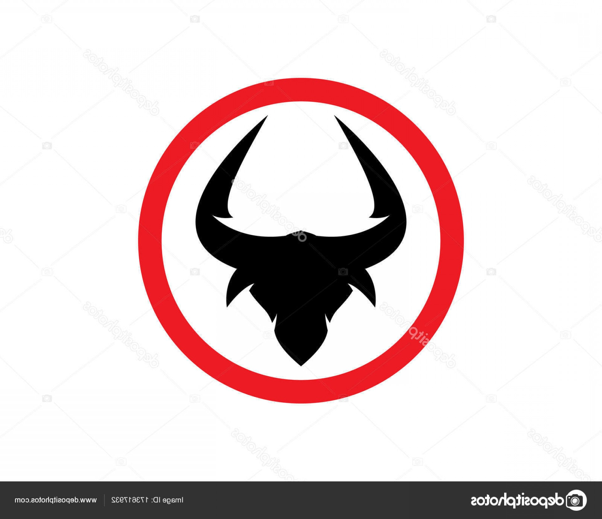 Taurus Vector: Stock Illustration Red Bull Taurus Logo Template