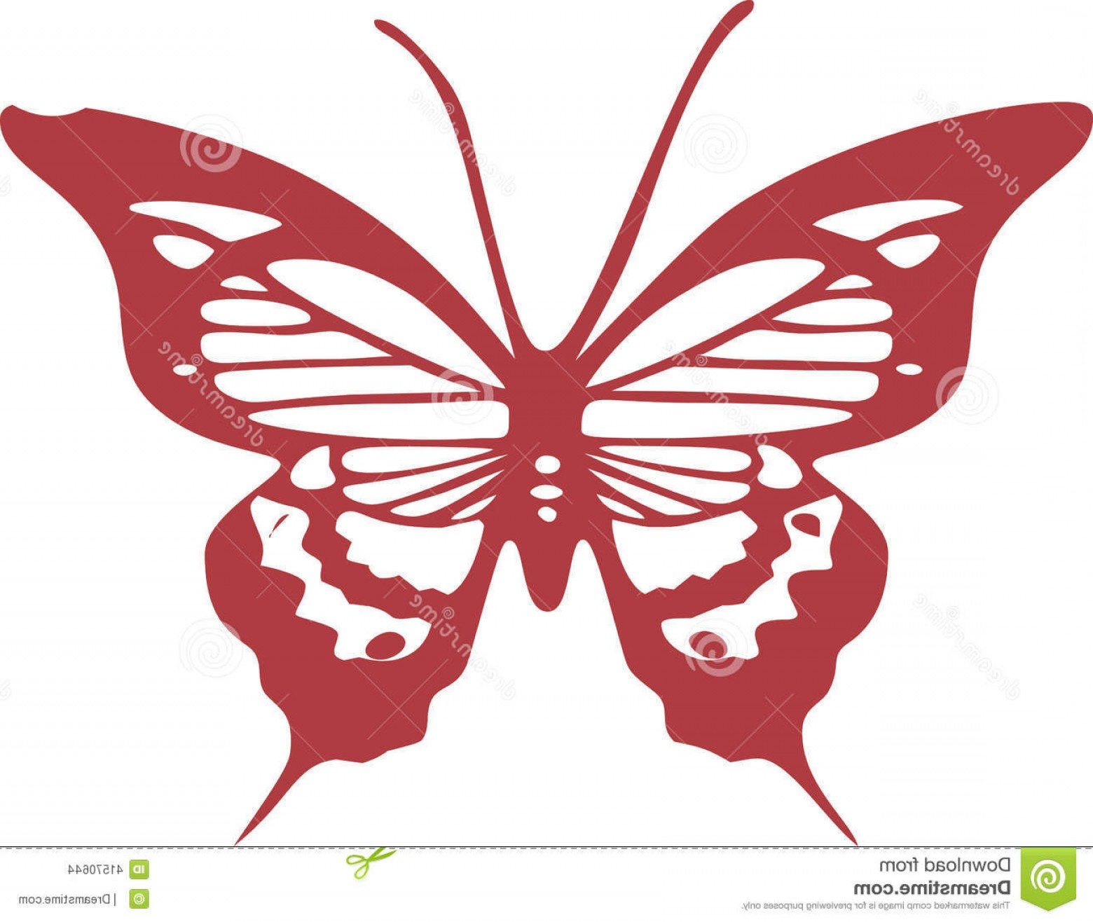Butterly Vector: Stock Illustration Red Butterfly Vector Eps Design Clip Art Created Adobe Illustrator Image