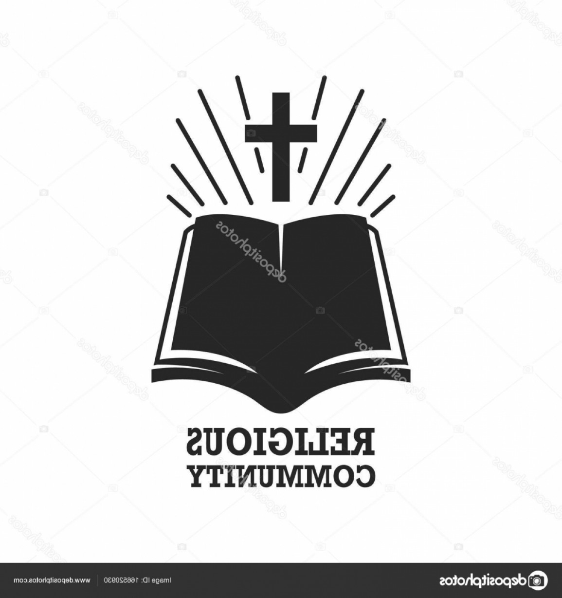 Holy Bible Vector: Stock Illustration Religious Community Holy Bible Icon