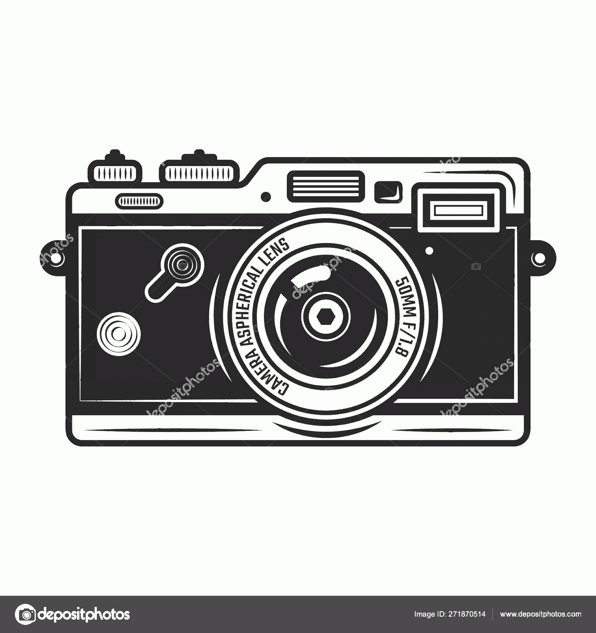 Classic Camera Vector: Stock Illustration Retro Photo Camera Vector Vintage