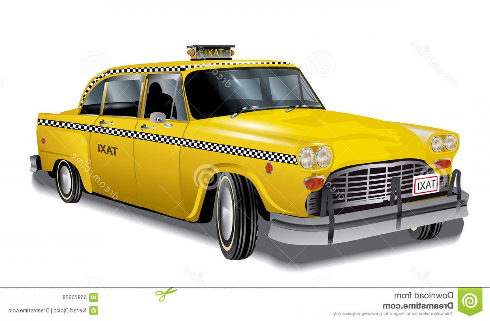 New York Taxi Cab Vector: Stock Illustration Retro Yellow Taxi Vector New York Cab S Image