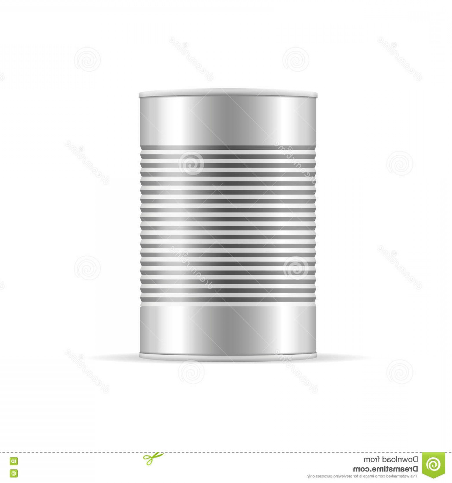 Can Vector: Stock Illustration Ribbed Tin Can Vector Packaging Mockup Your Design Metallic Canned Food Product Illustration Image