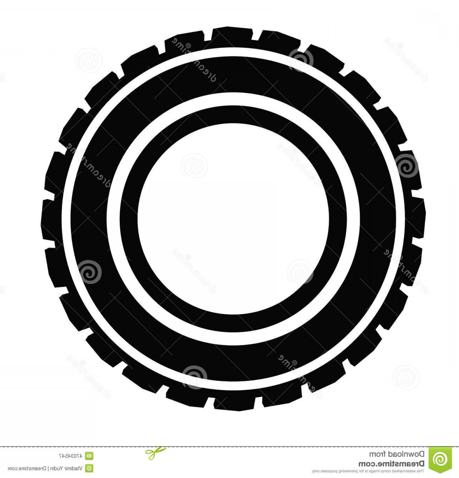 Tire Icon Vector: Stock Illustration Road Tire Vector Black Icon White Background Image