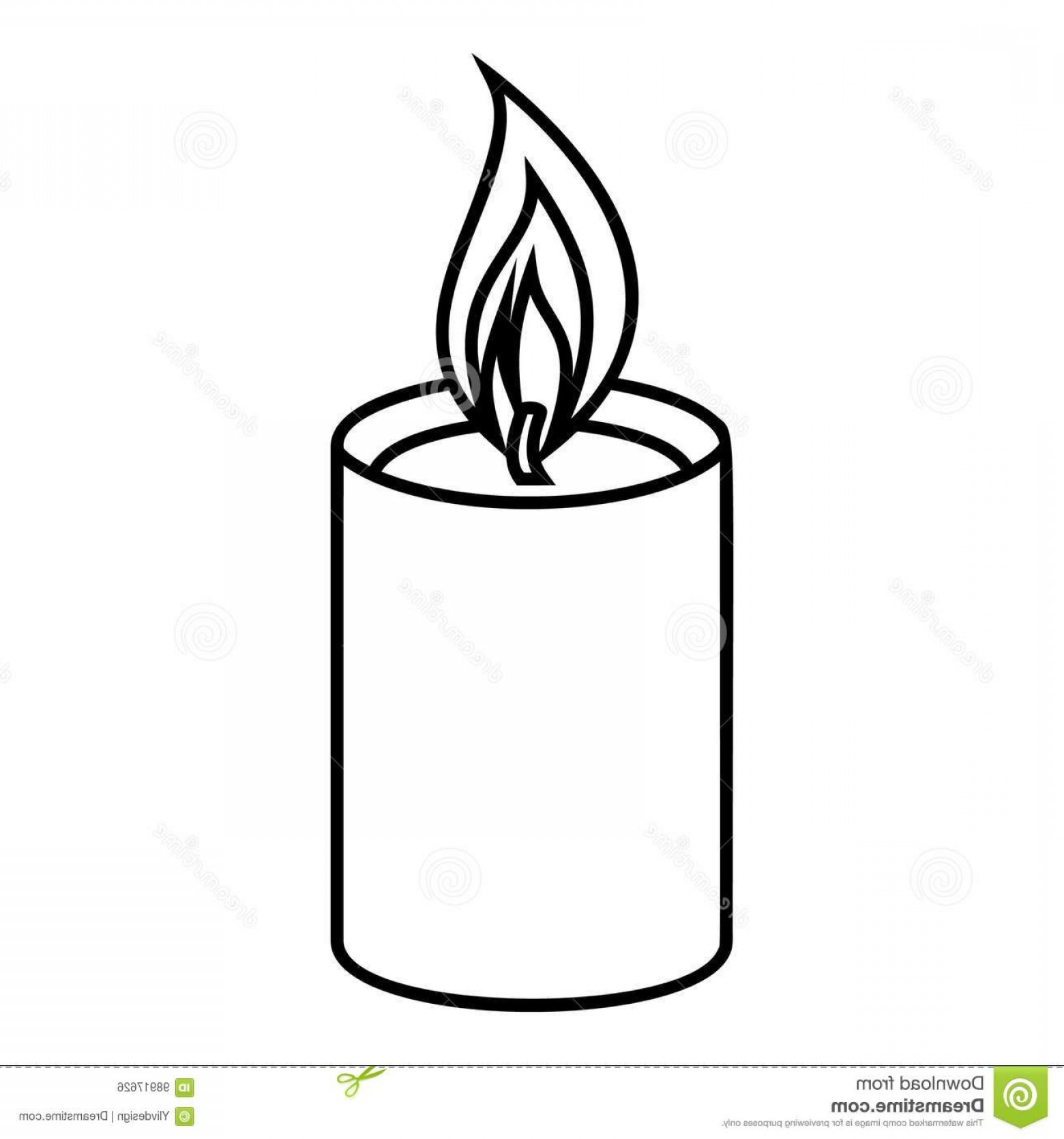Candle Vector Black: Stock Illustration Romance Candle Icon Outline Illustration Romance Candle Vector Icon Web Romance Candle Icon Outline Style Image