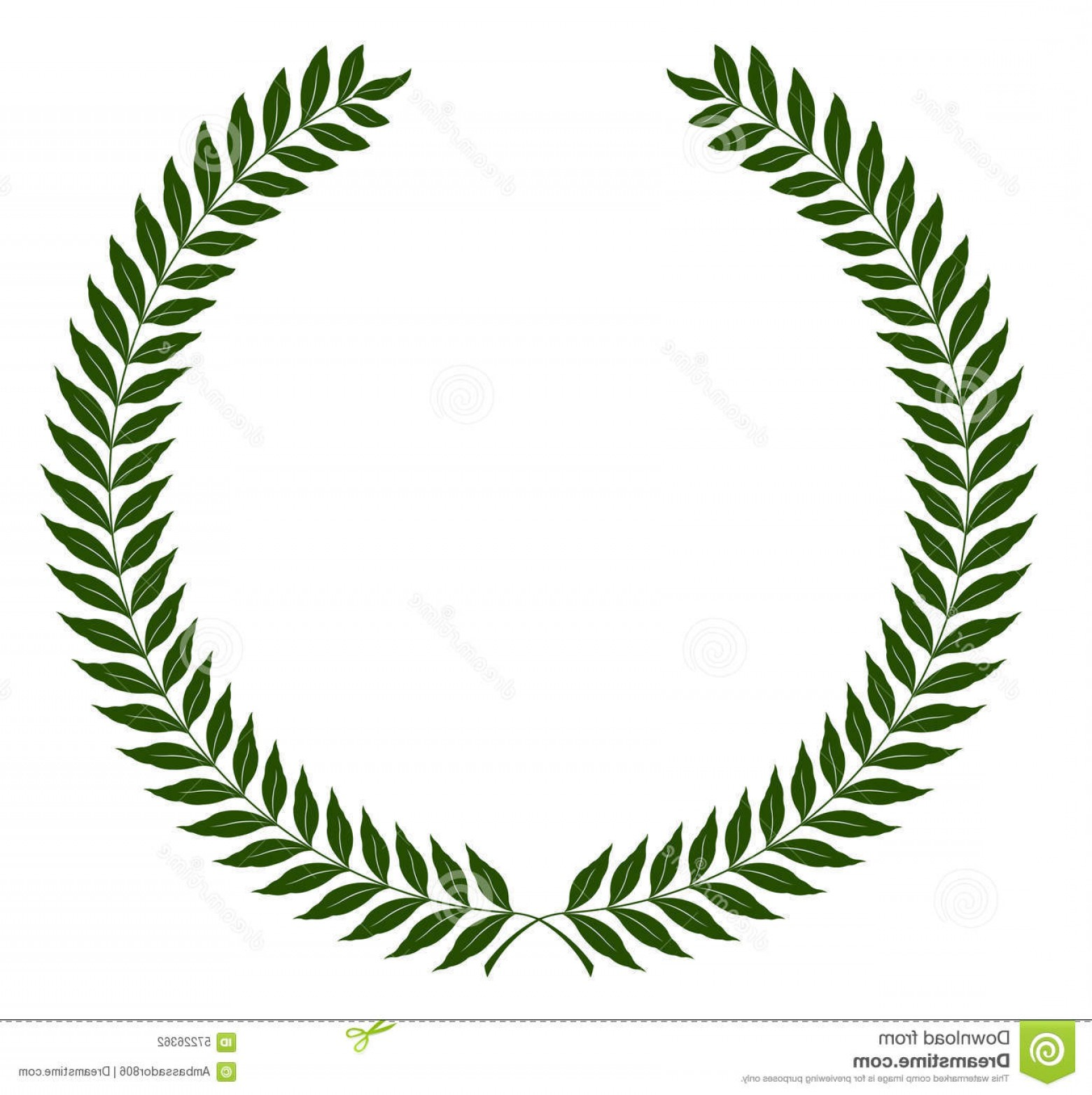Half Leaf Wreath Vector: Stock Illustration Round Laurel Wreaths Vector Illustration Green Fully Editable You Can Change Form Color Image