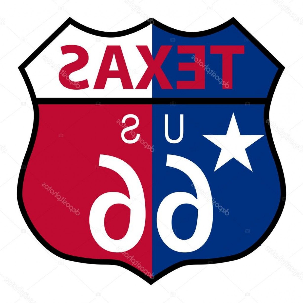 Texas Flag Vector Art: Stock Illustration Route Texas Sign And