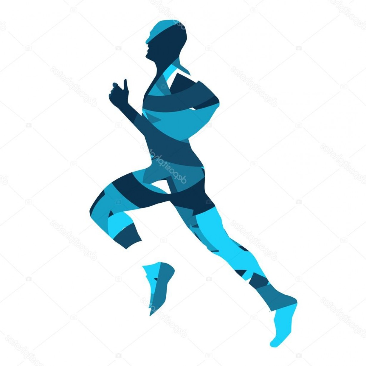 Road Runner Vector: Stock Illustration Runner Running Man Vector Silhouette
