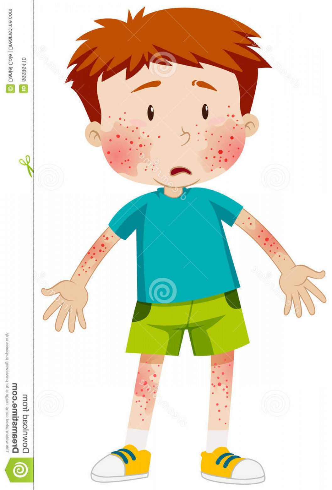 Infectious Disease Vector: Stock Illustration Sad Boy Infectious Disease Illustration Image
