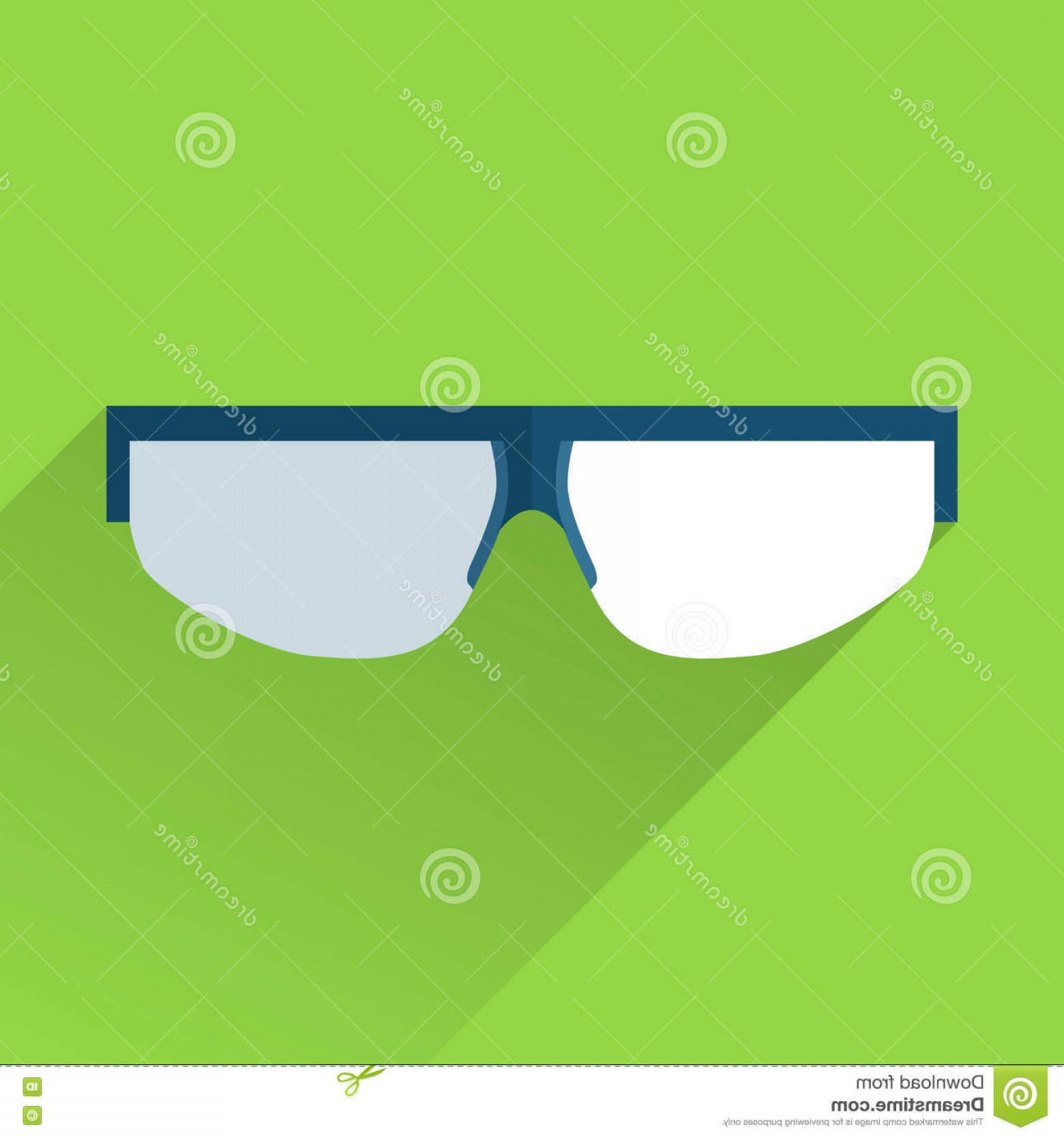 Construction Safety Goggles Vector: Stock Illustration Safety Goggles Flat Color Icon Isolated Green Image