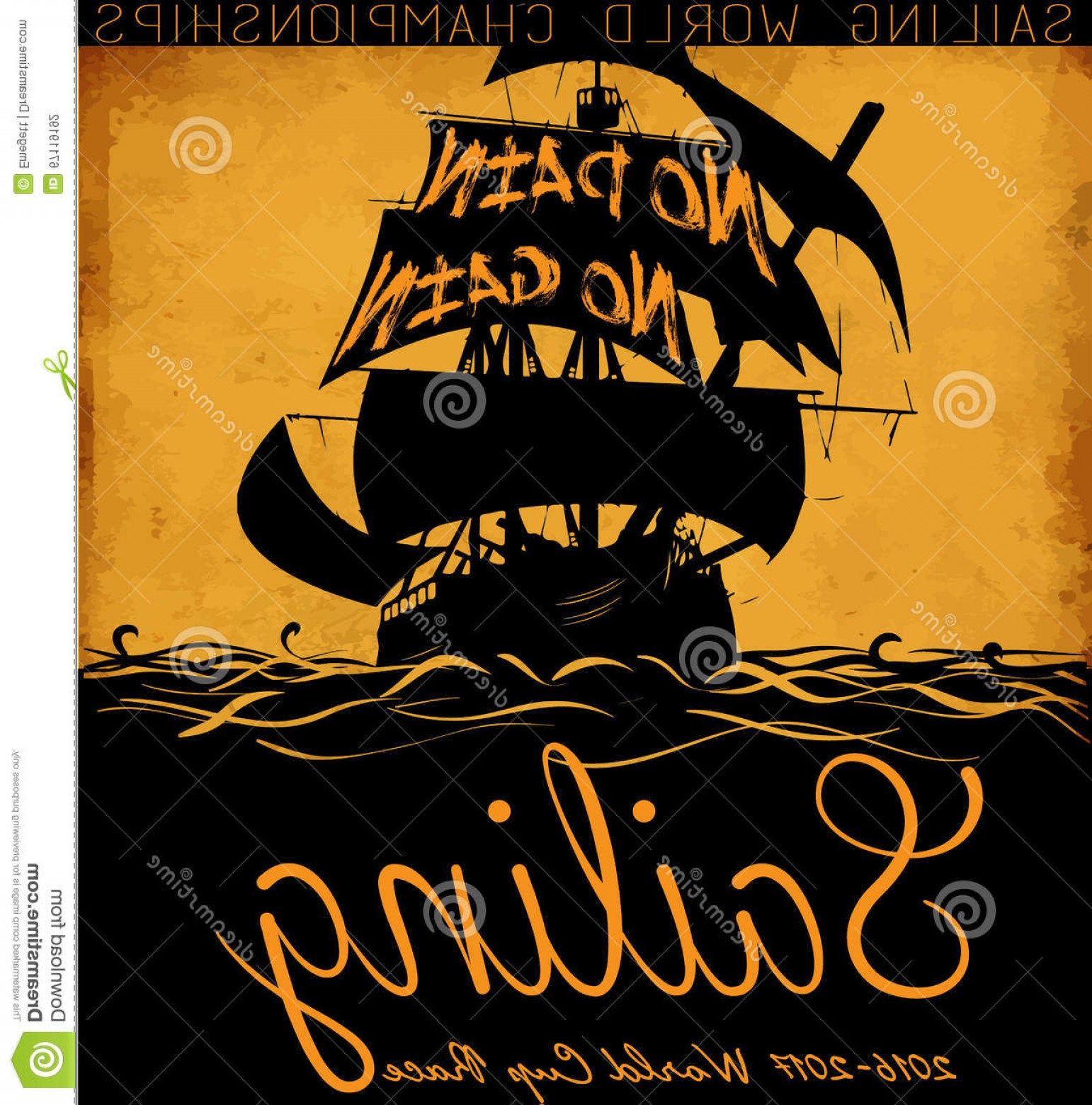 Boat Vector Art Graphics: Stock Illustration Sail Boat Vector Tee Graphic Design Fashion Style Image