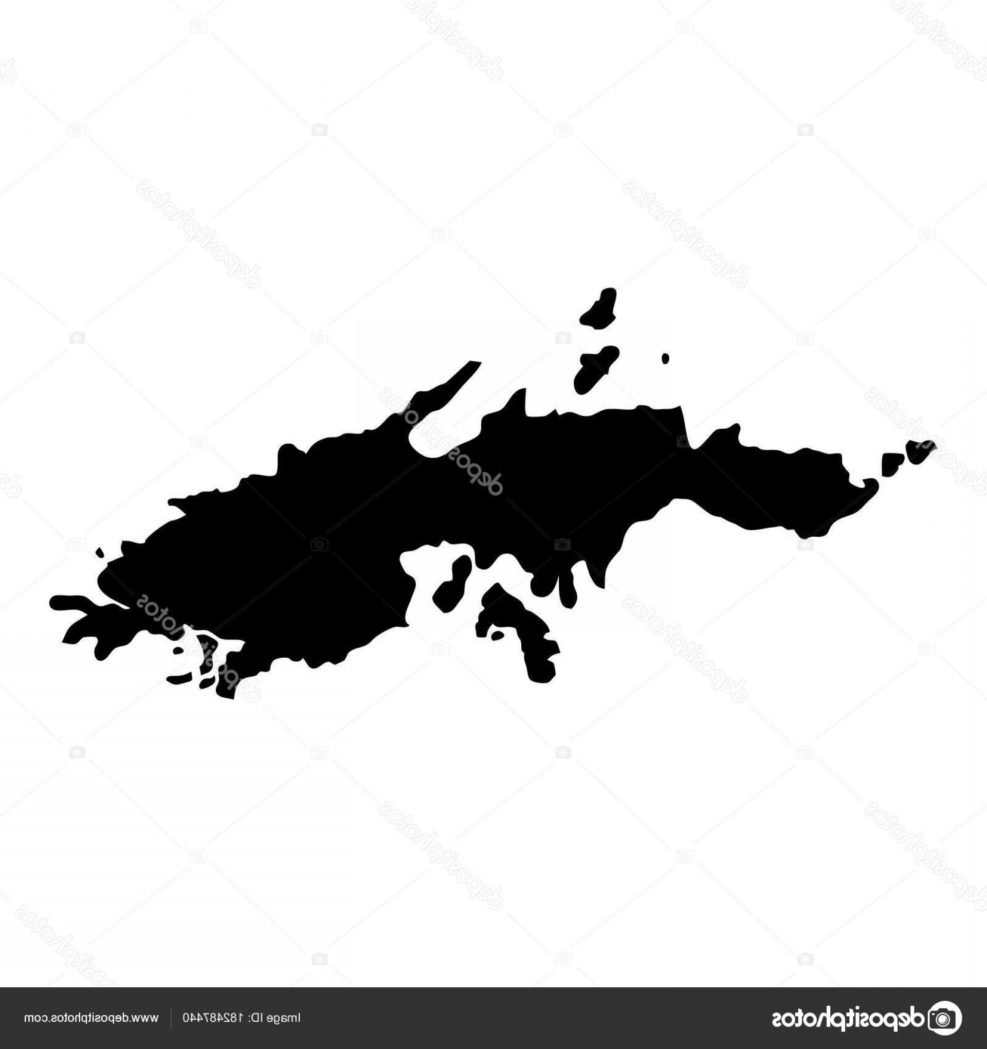 Thomas And Thomas Vector: Stock Illustration Saint Thomas Map Island Silhouette