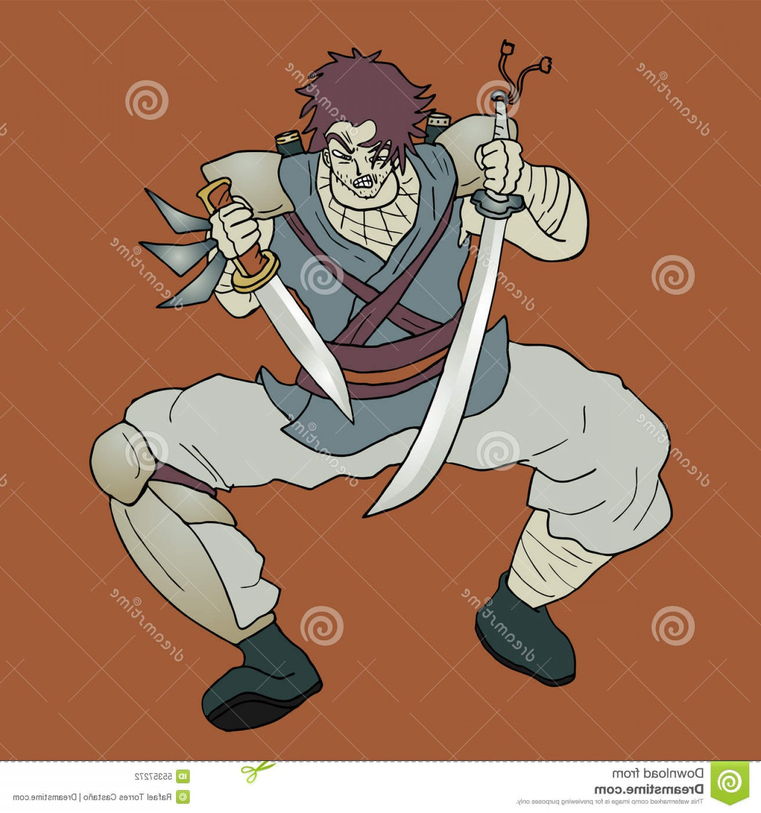 Windows Phone Vector Samurai: Stock Illustration Samurai Draw Design Danger Illustration Image
