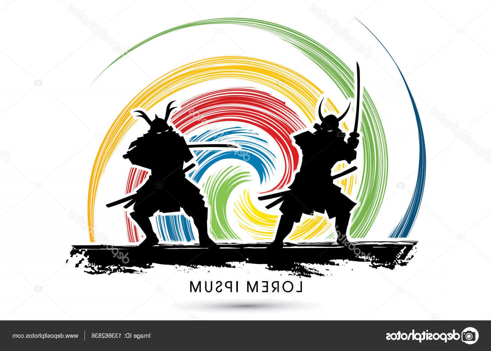 Samurai Warrior Vector: Stock Illustration Samurai Warrior With Sword Vector