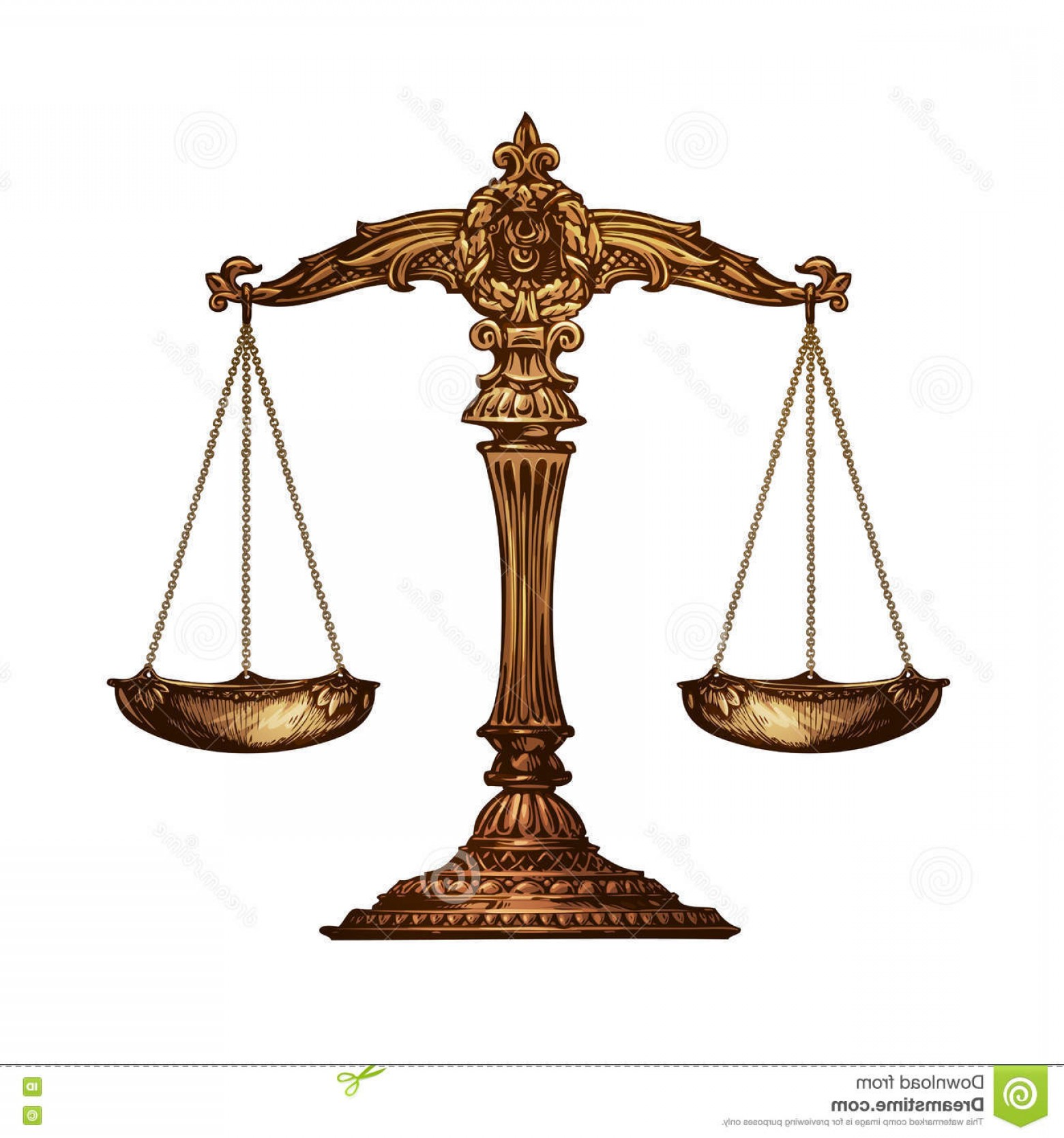 Scales Of Justice Vector: Stock Illustration Scales Justice Vector Illustration White Background Image