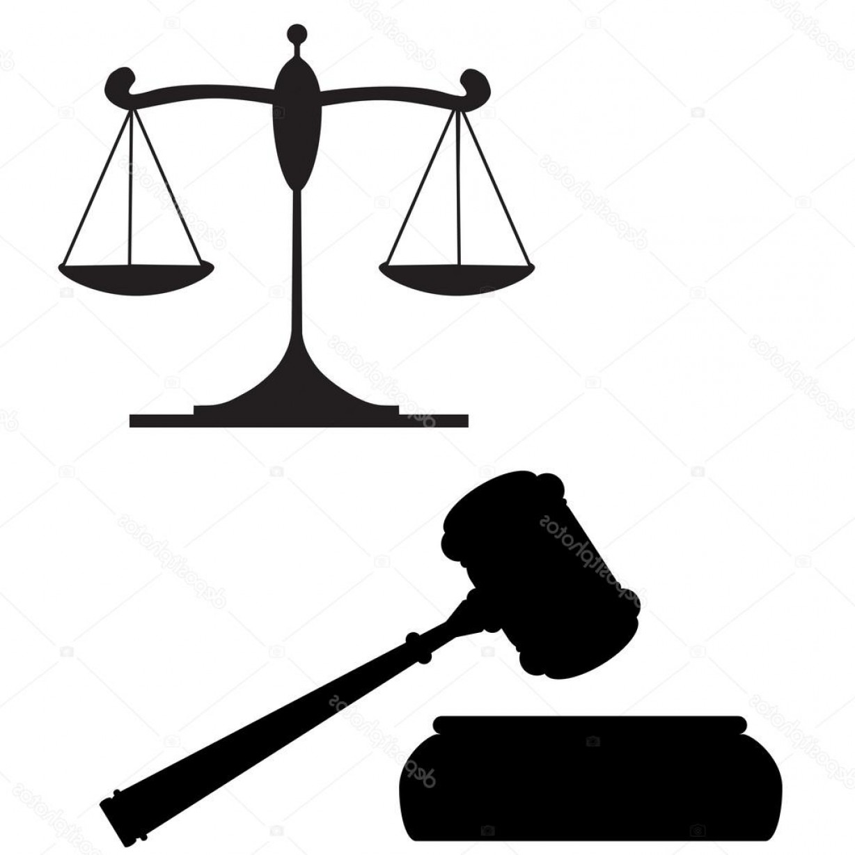Scales Of Justice Vector: Stock Illustration Scales Of Justice And Gavel