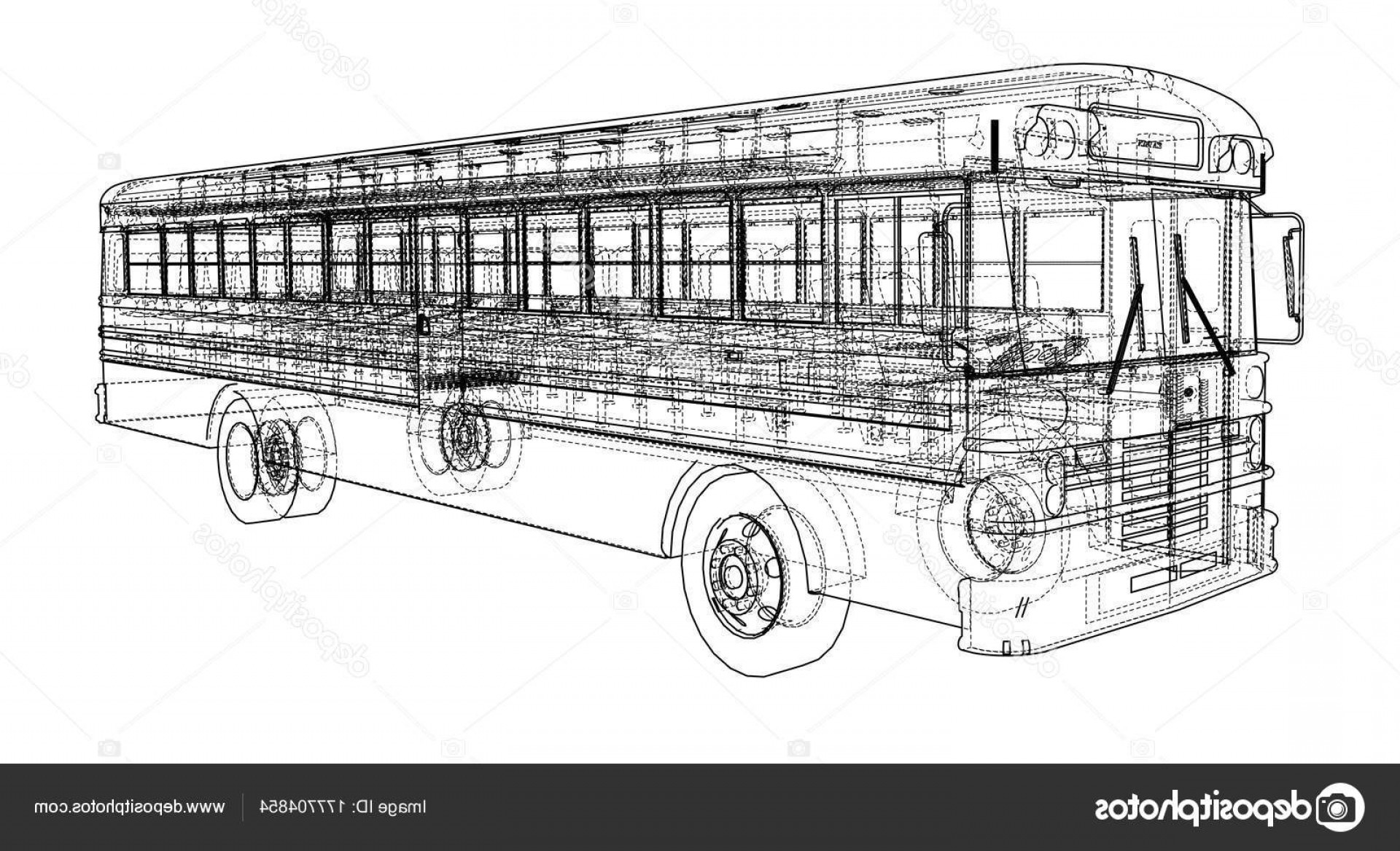 Pic Bus Vector Format: Stock Illustration School Bus Outline Vector