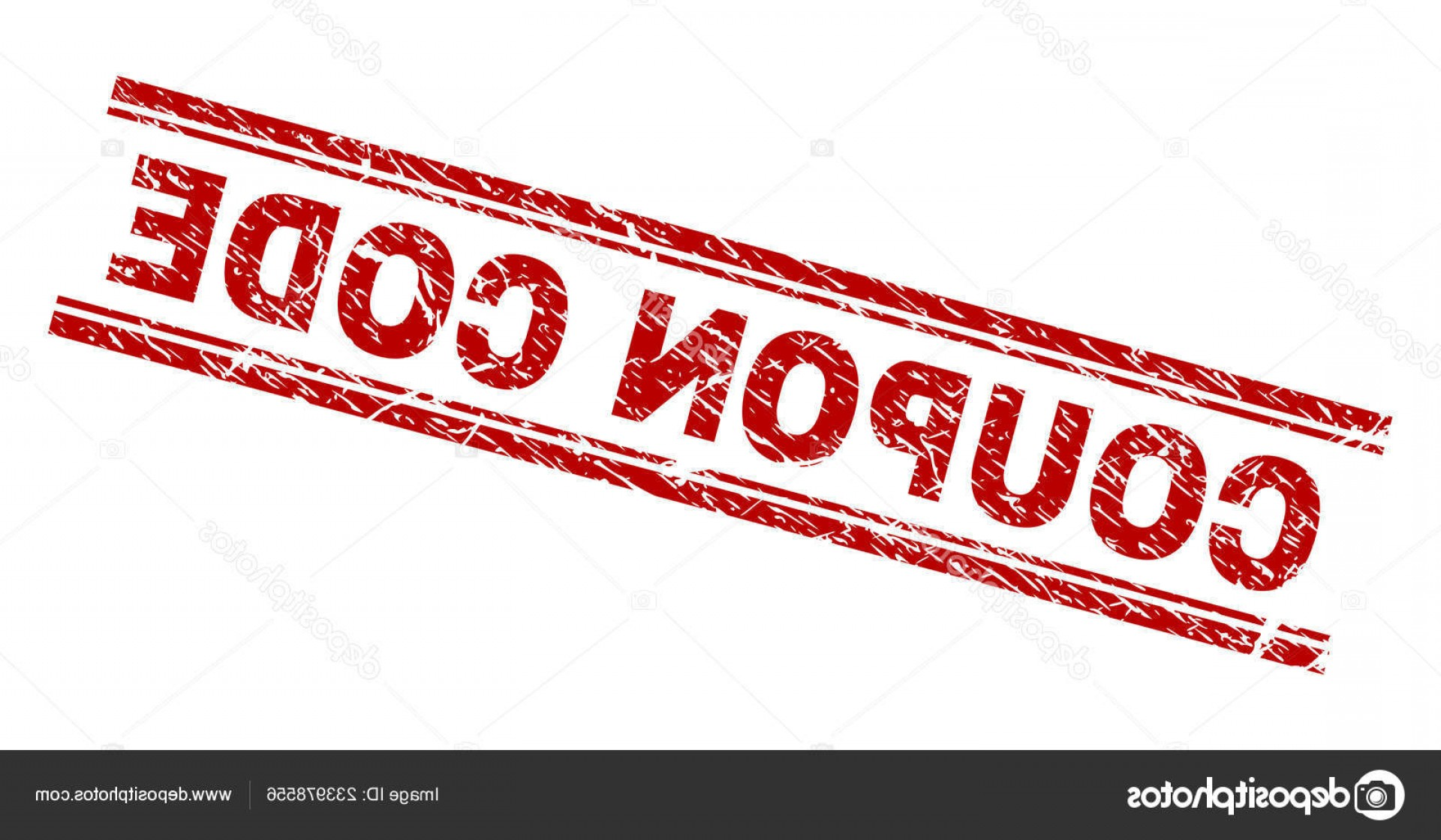 RedVector Coupon: Stock Illustration Scratched Textured Coupon Code Stamp