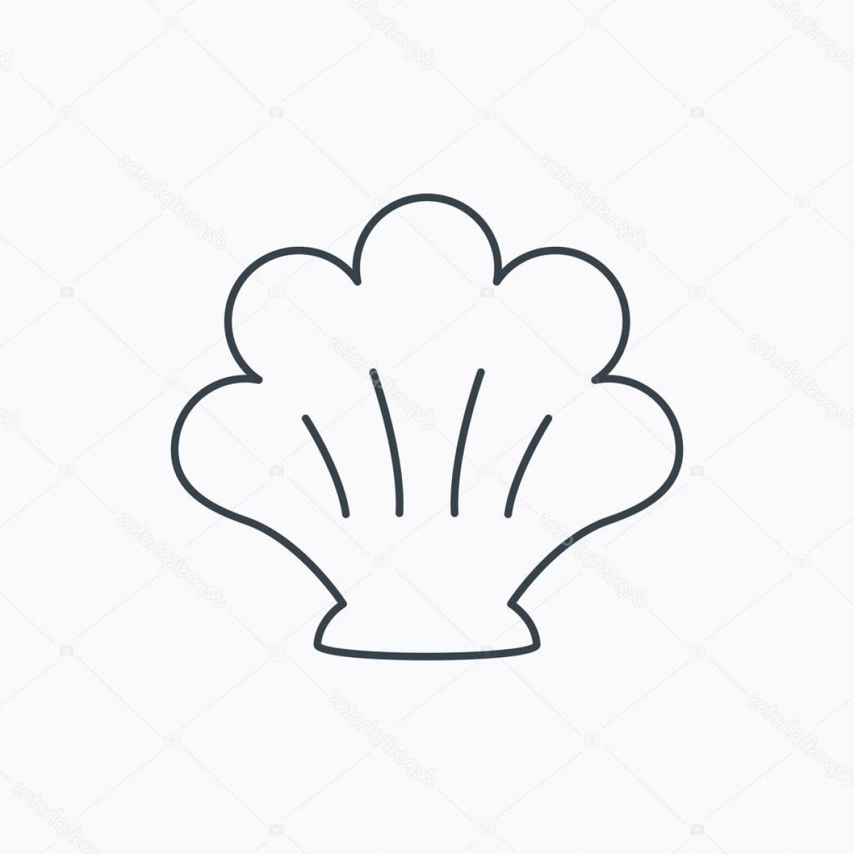 Shell Vector Icons: Stock Illustration Sea Shell Icon Seashell Sign
