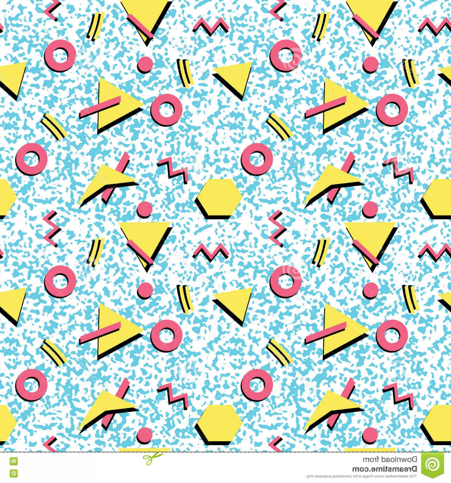 Stock Vector Graphics: Stock Illustration Seamless Abstract Pattern Fashion S Postmodern Style Background Vector Graphics Eps Image