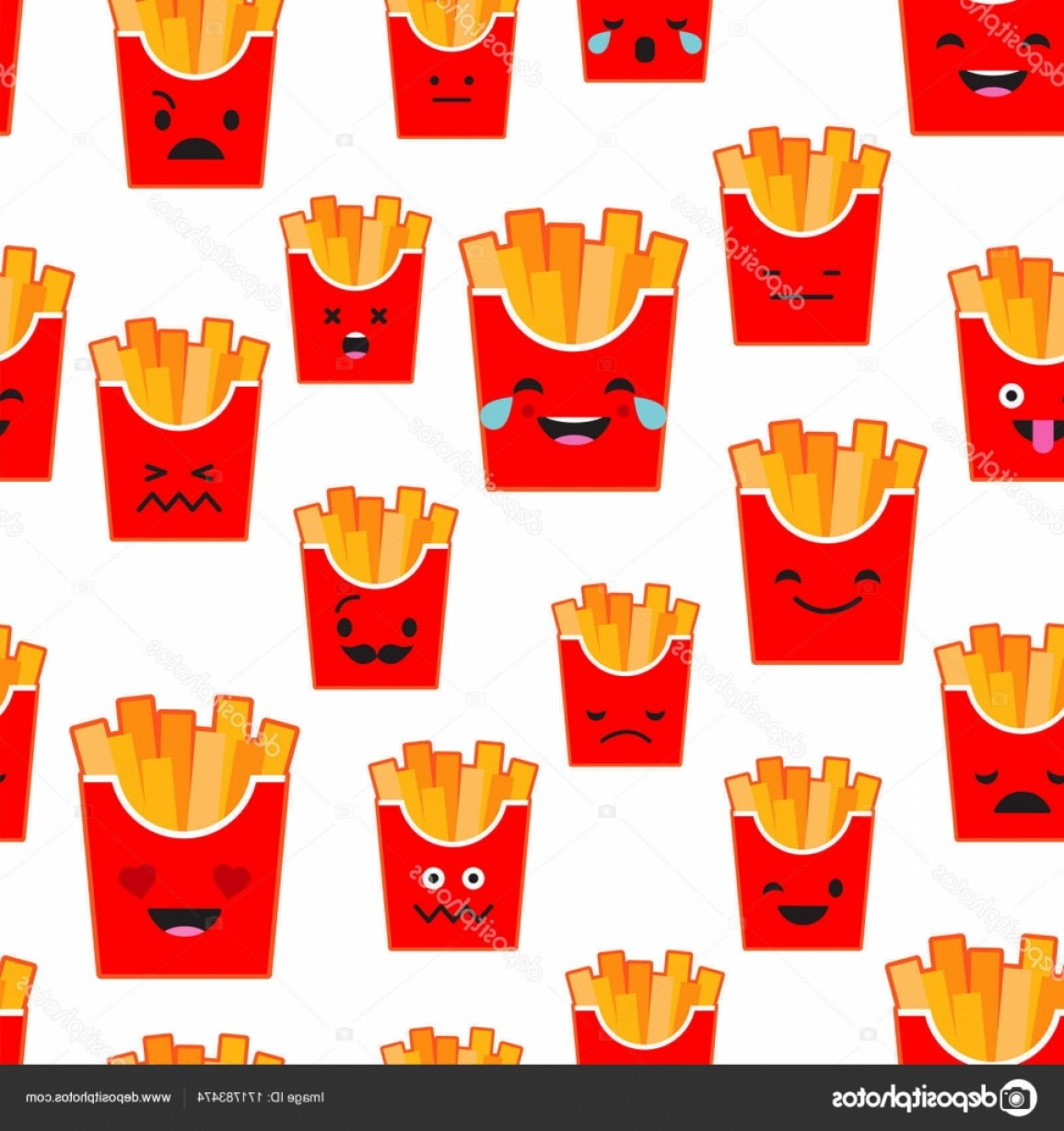 Rapport Vector: Stock Illustration Seamless Background With French Fries