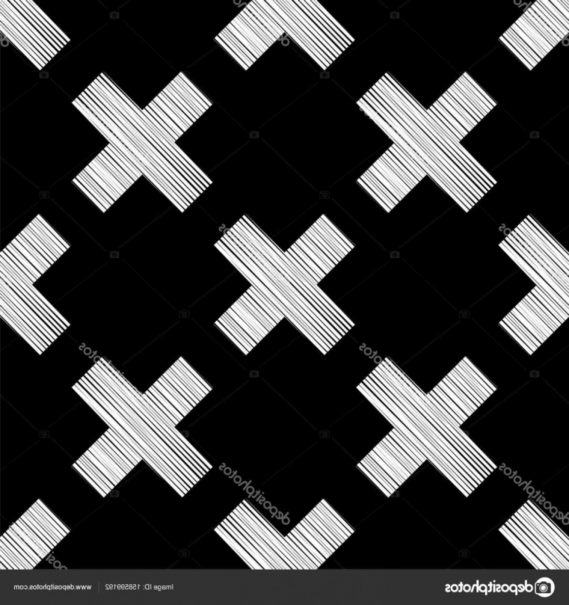 Rapport Vector: Stock Illustration Seamless Black And White Vector