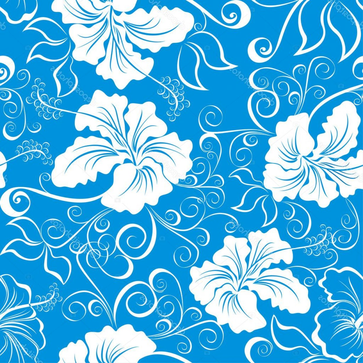 Hawaiian Pattern Vector: Stock Illustration Seamless Hawaiian Pattern Wallpaper