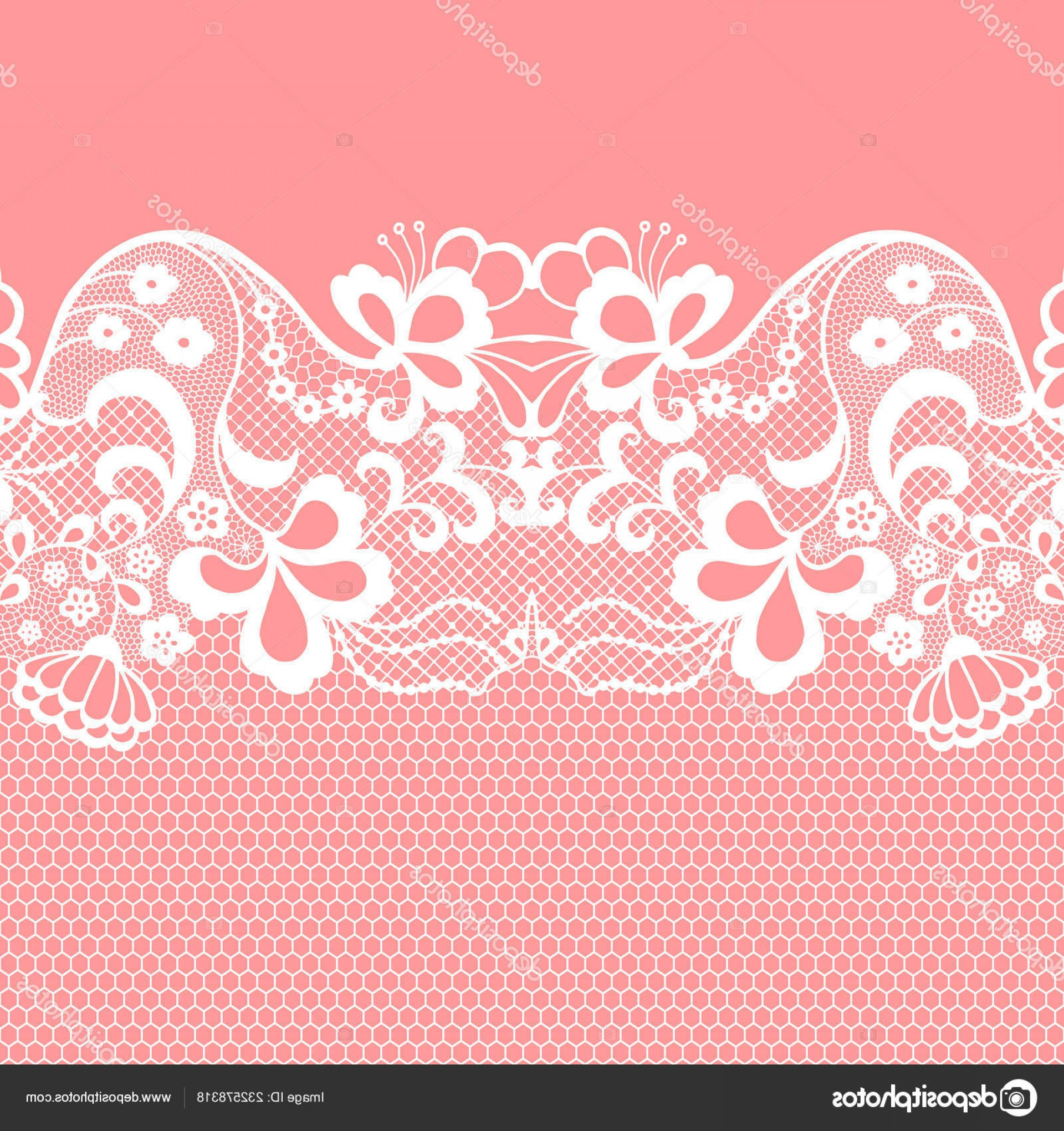 Vector Can Trim White: Stock Illustration Seamless Lace Border Vector Illustration
