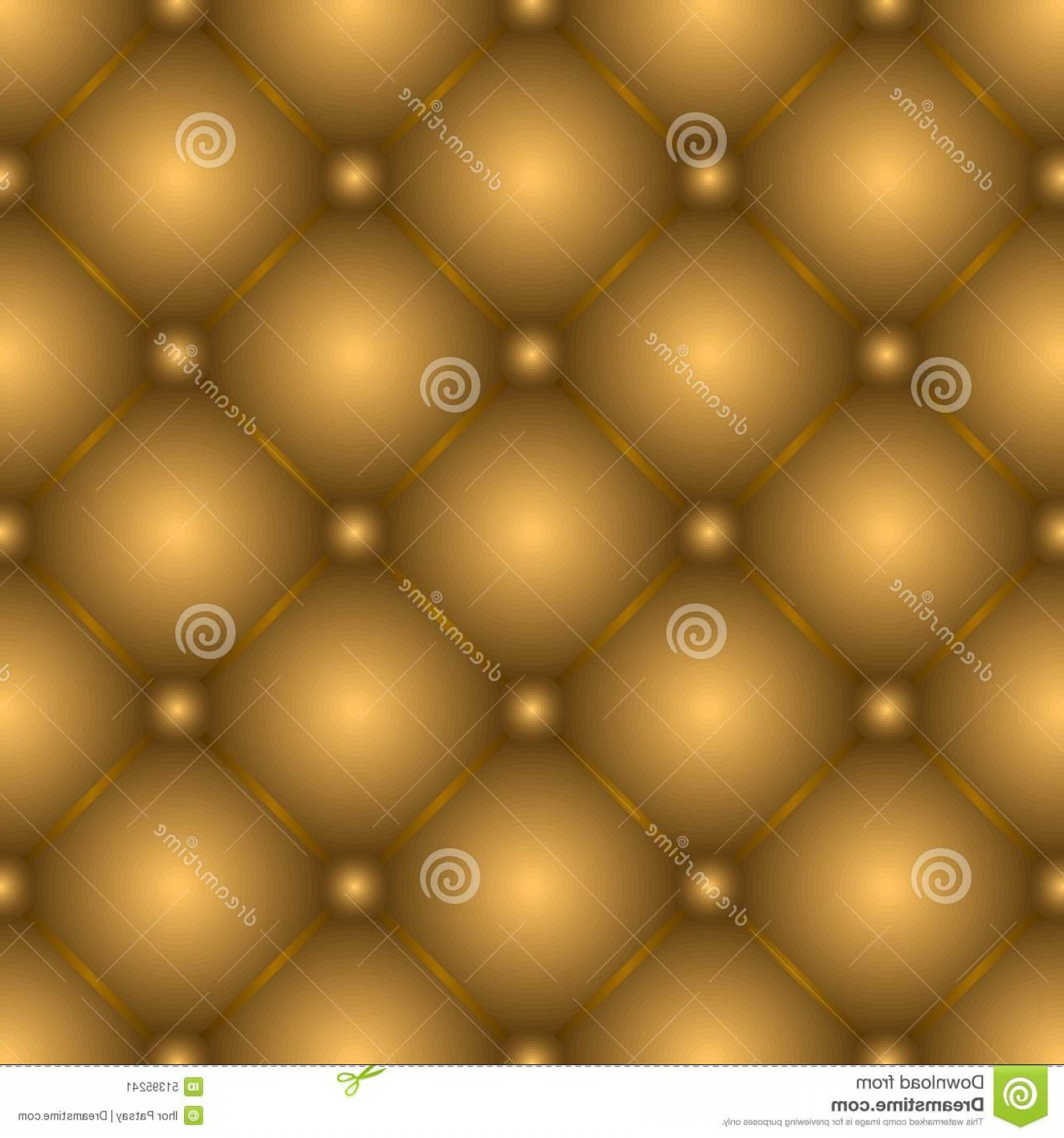 Vector Seamless Leather Pattern: Stock Illustration Seamless Leather Pattern Golden Brown Tufted Texture Image